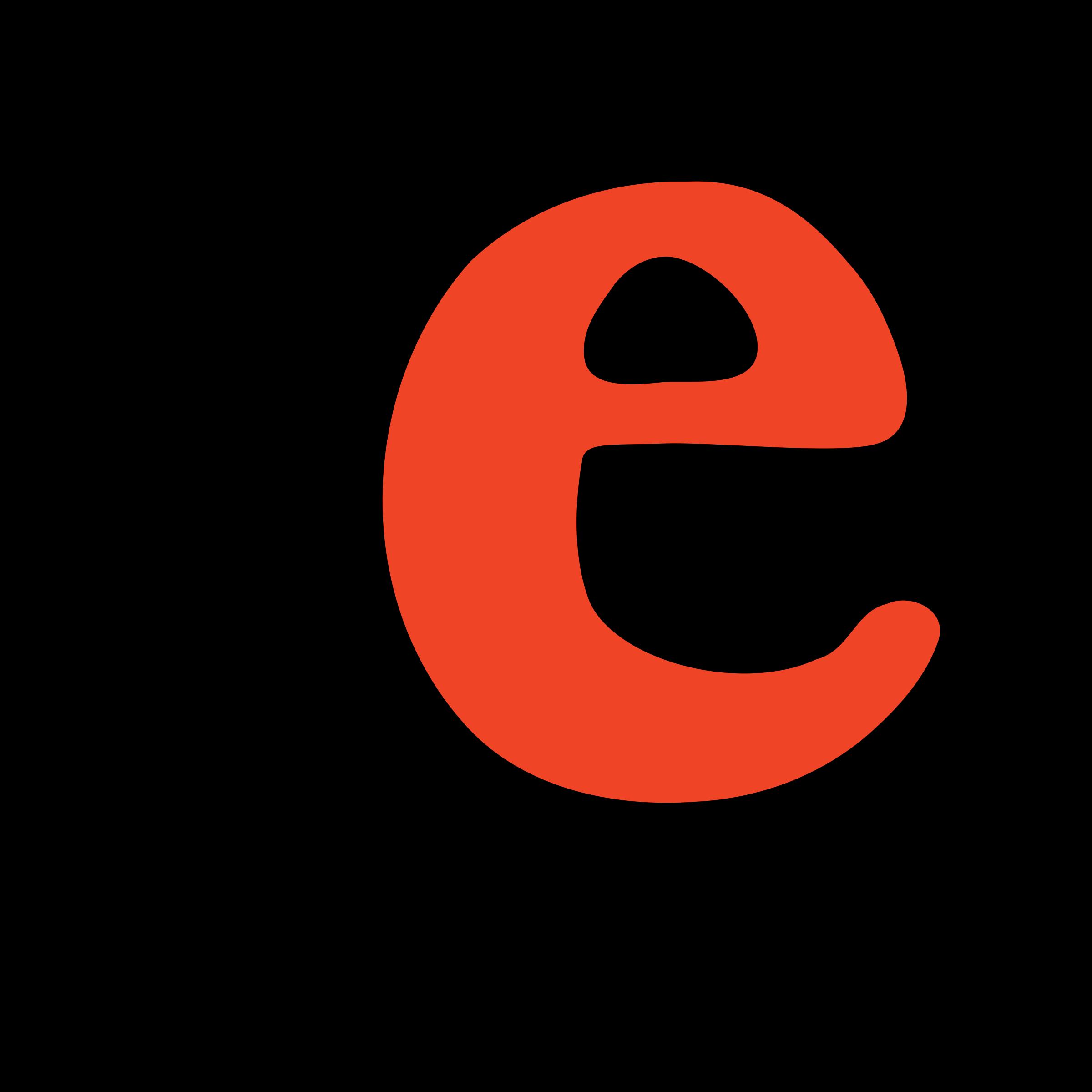 Clipart - lowercase e