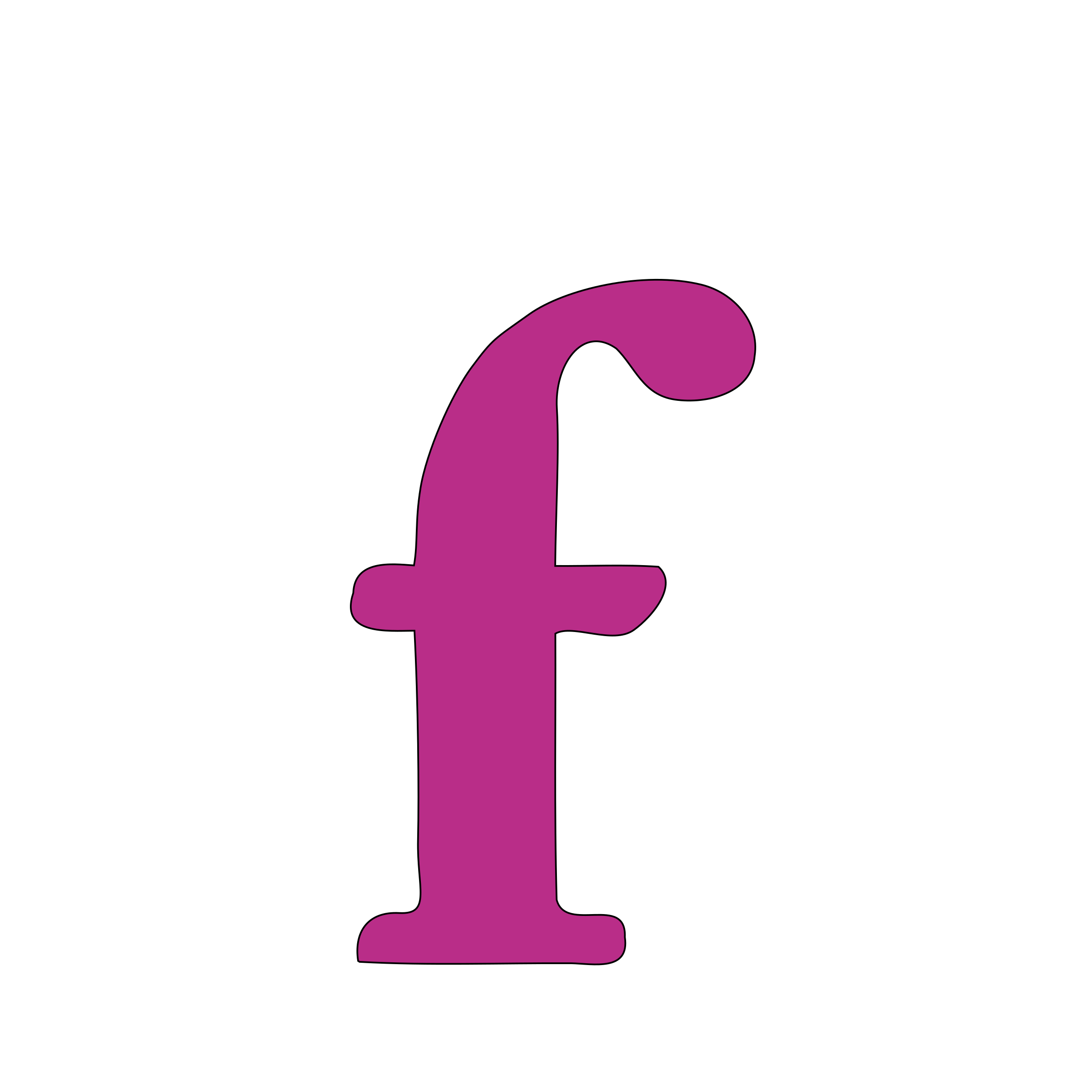 lowercase f by tuamora