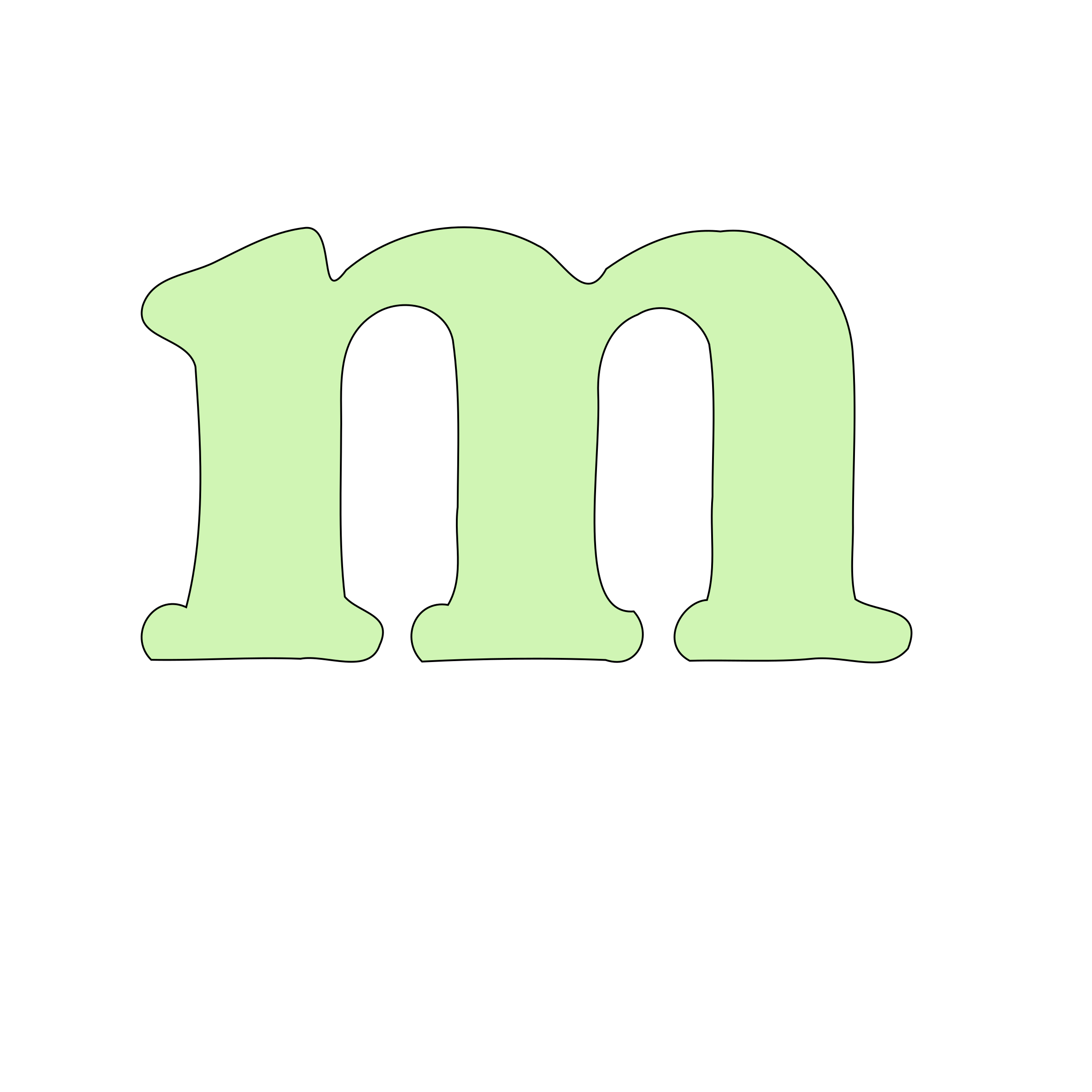 lowercase m by tuamora