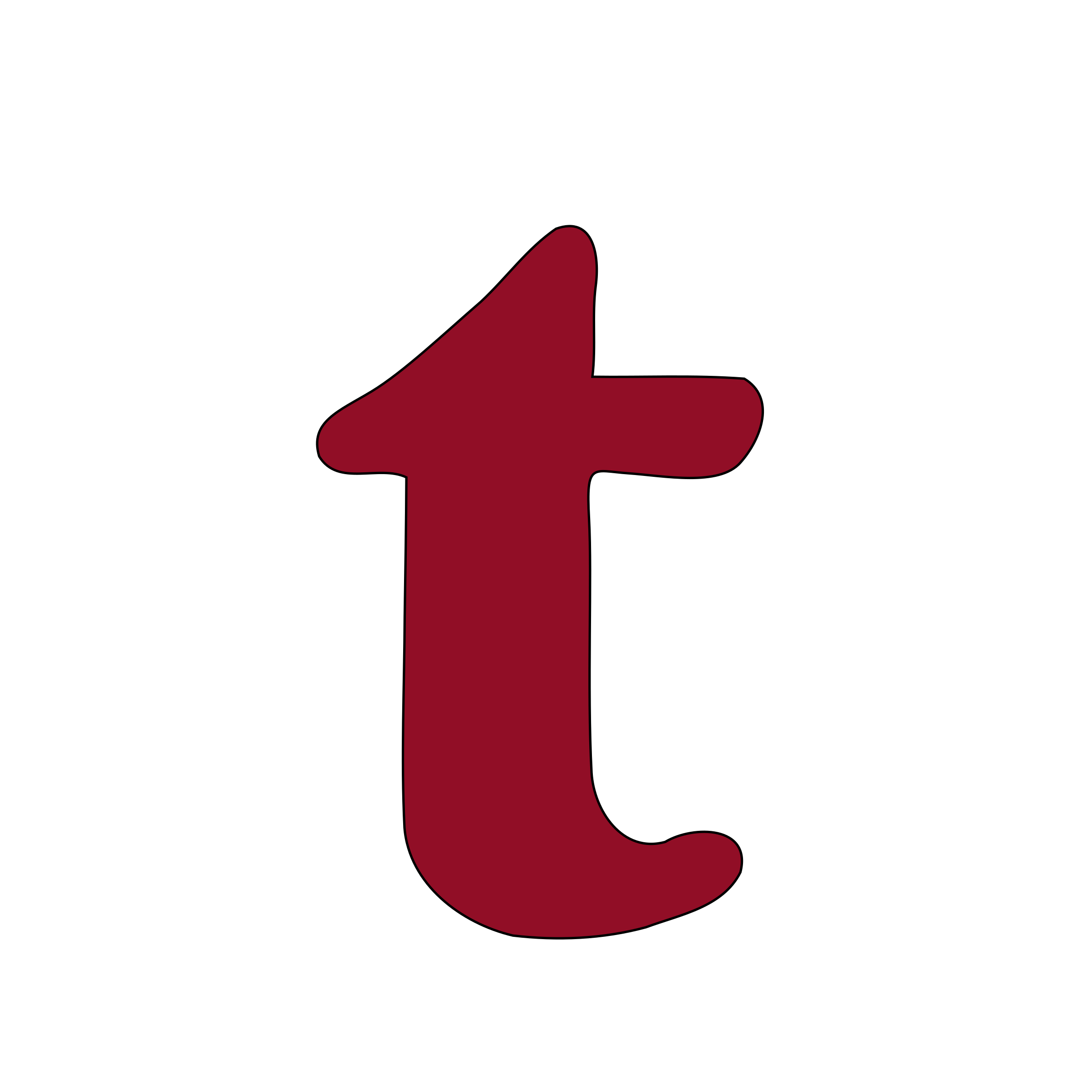 lowercase t by tuamora