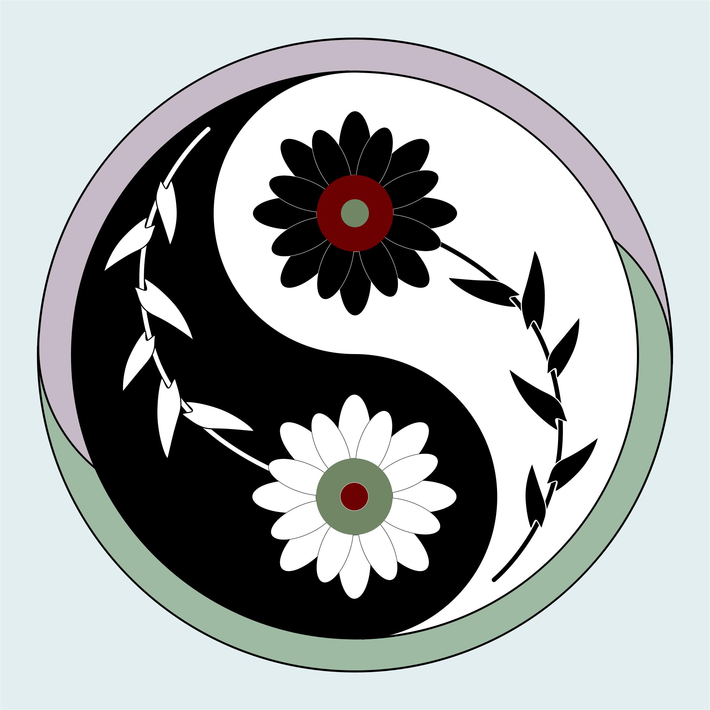 Clipart Yin Yang Flower