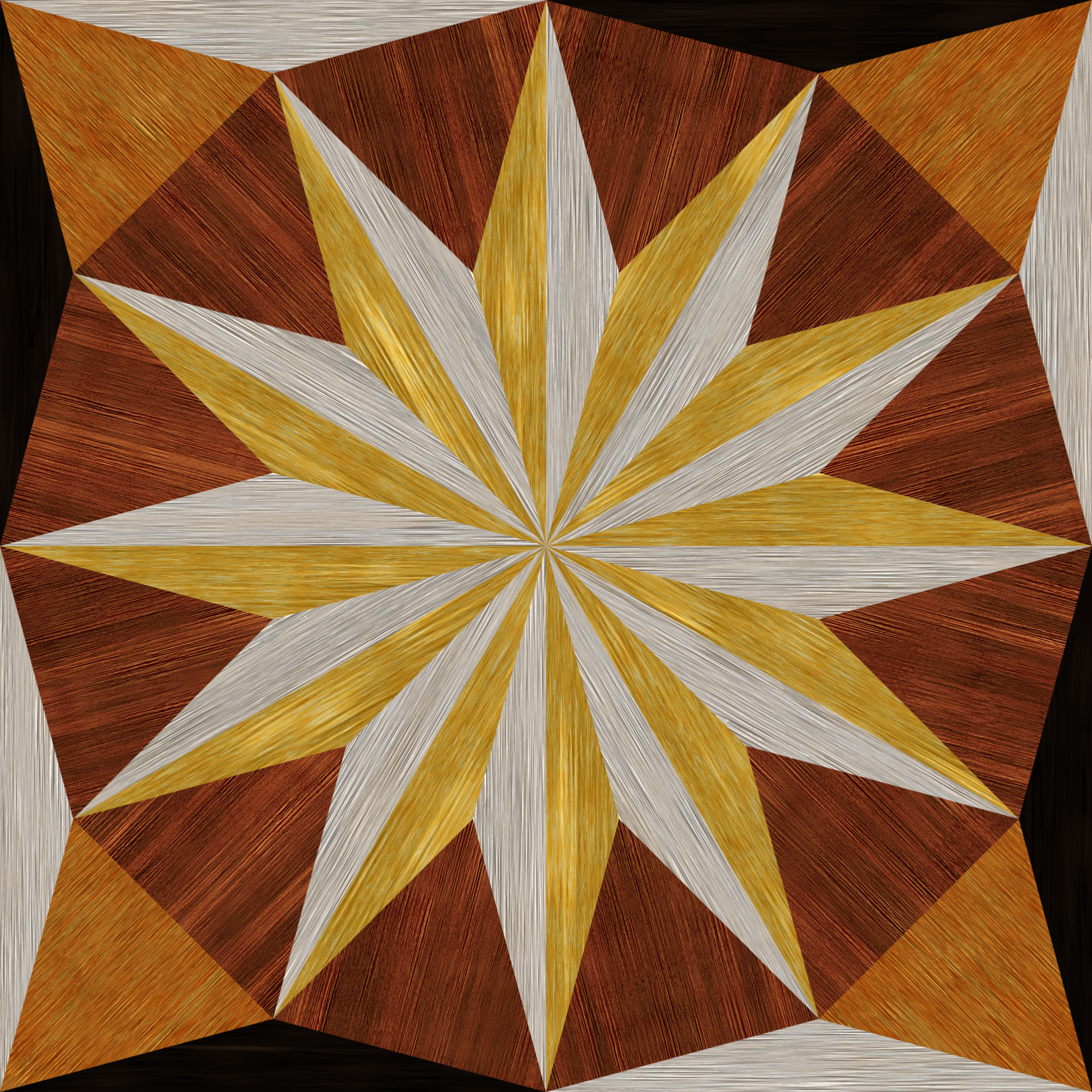 wooden triangle tiling 2 by Lazur URH