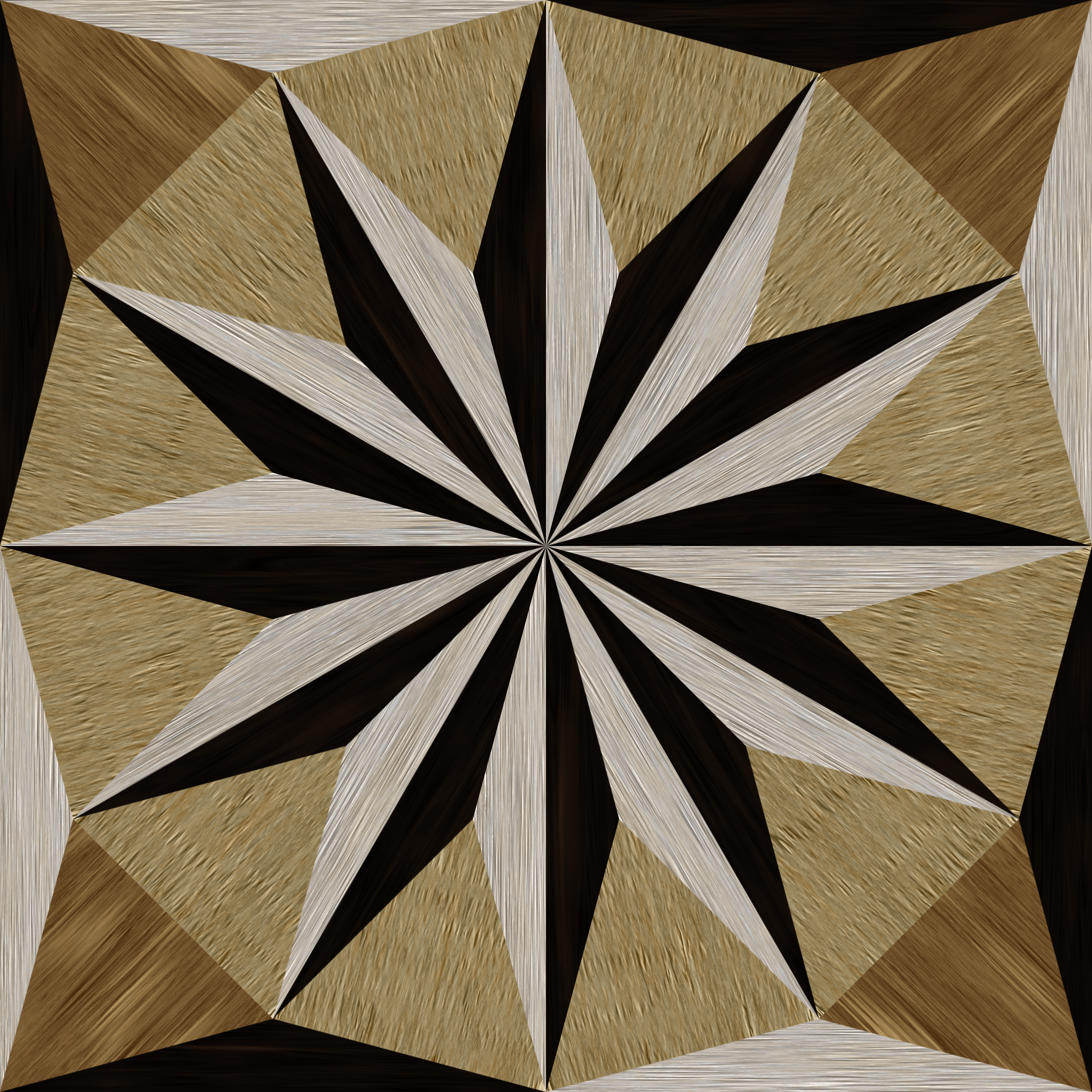 wooden triangle tiling 4 by Lazur URH