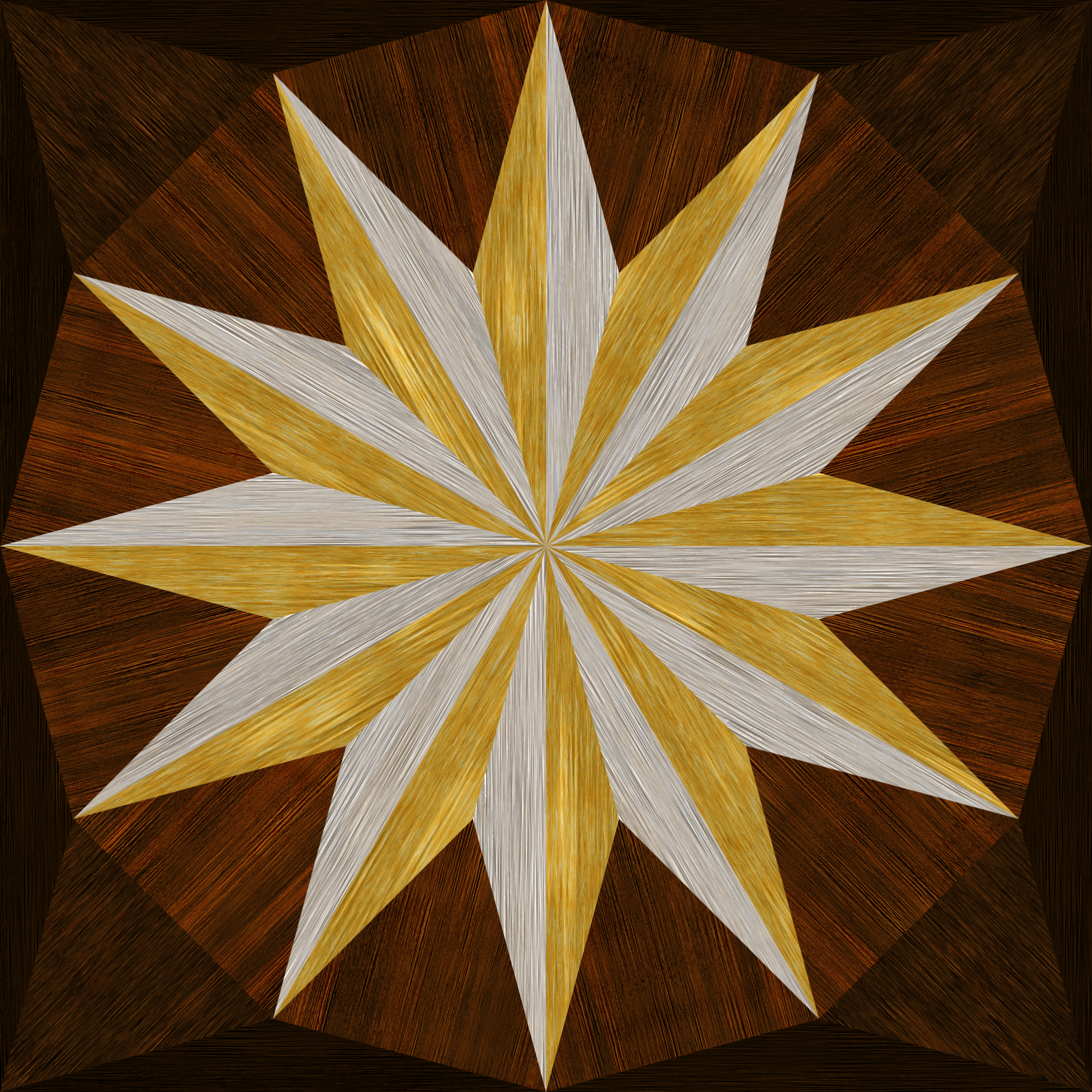 wooden triangle tiling 5 by Lazur URH
