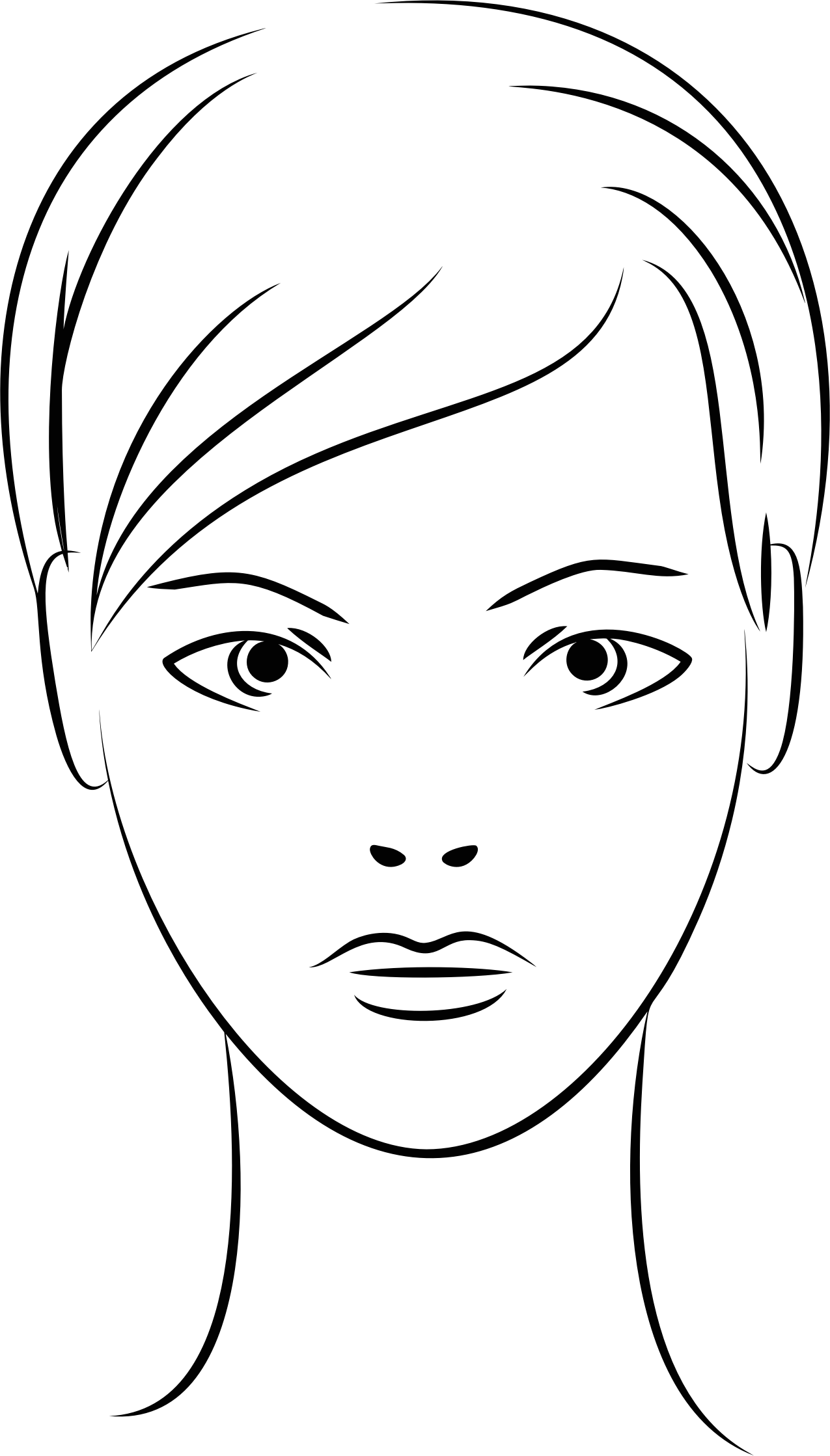Female Face Line Art by GDJ