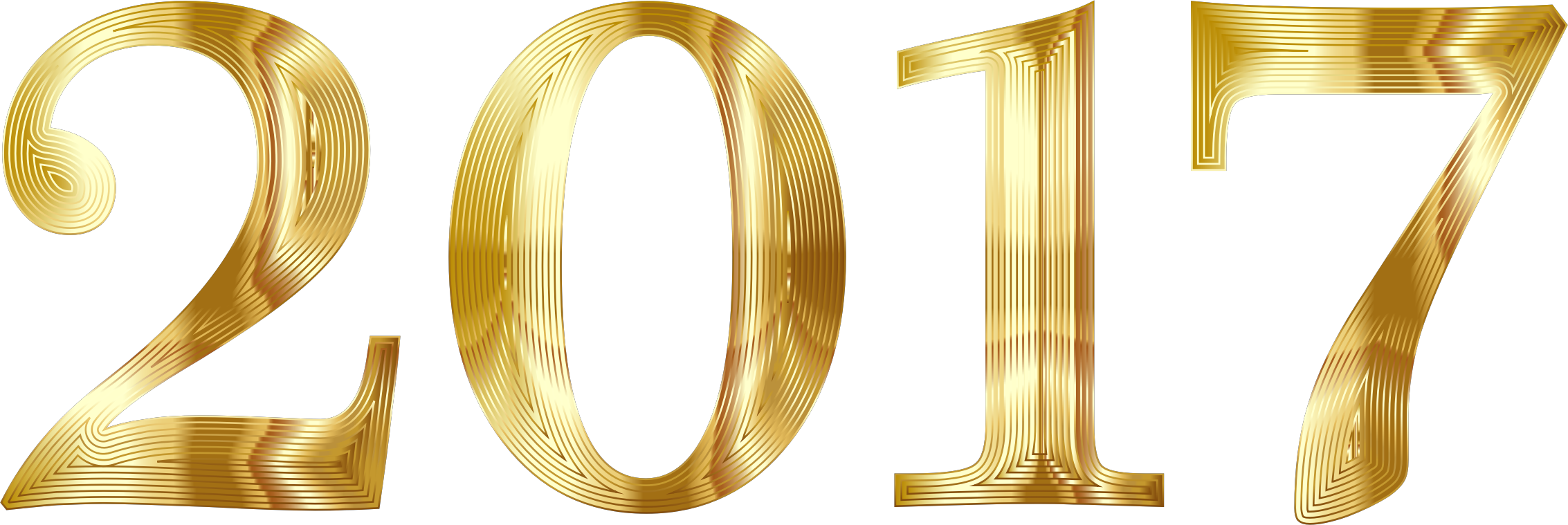 Gold 2017 Typography No Background by GDJ