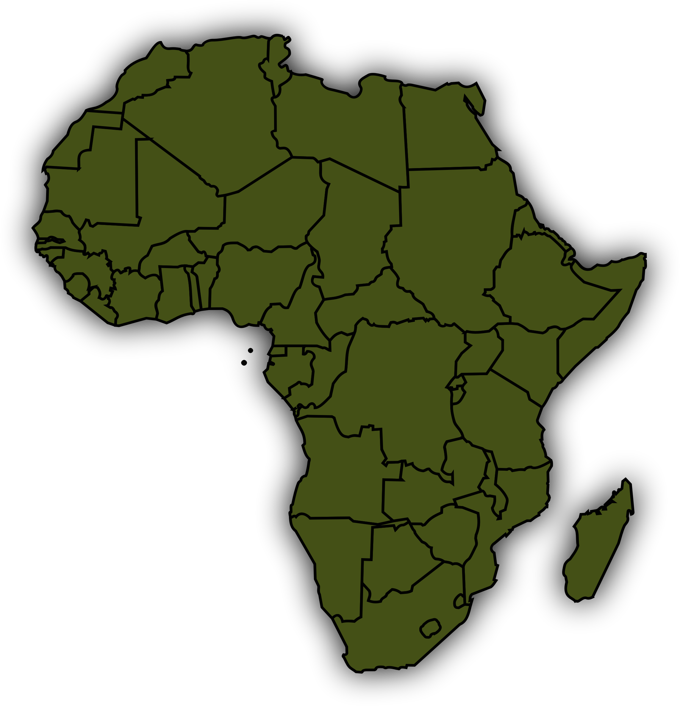 Basic Africa Map by j4p4n