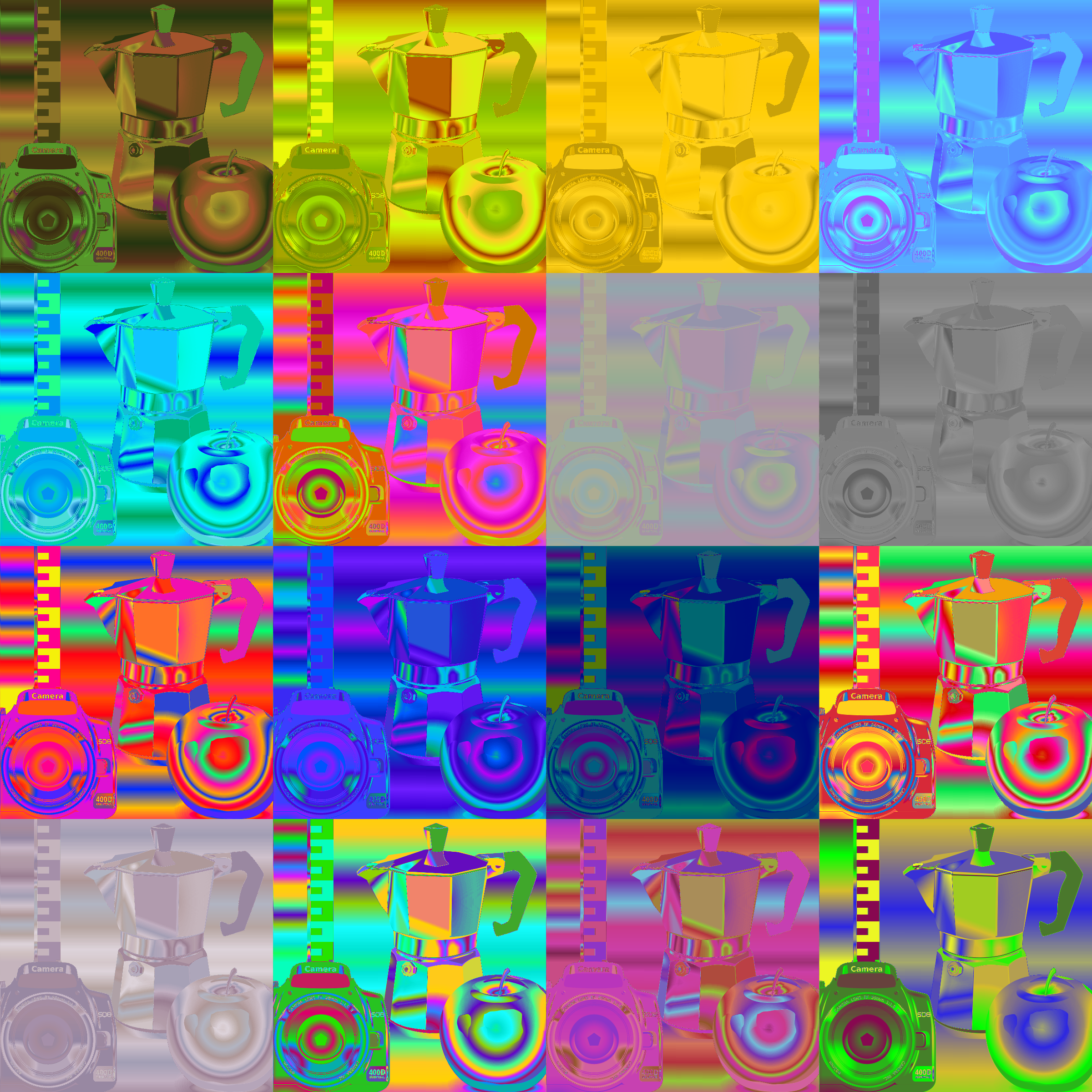random generated colour map filter pack by Lazur URH