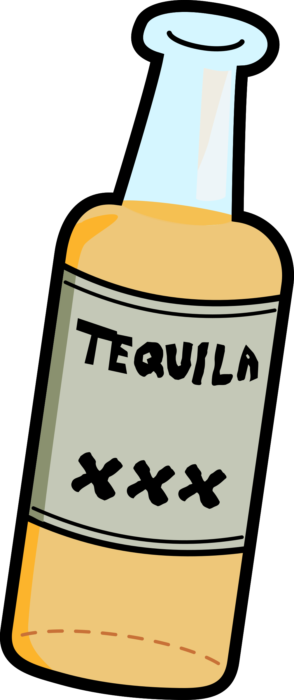 Clipart - Cartoon Tequila