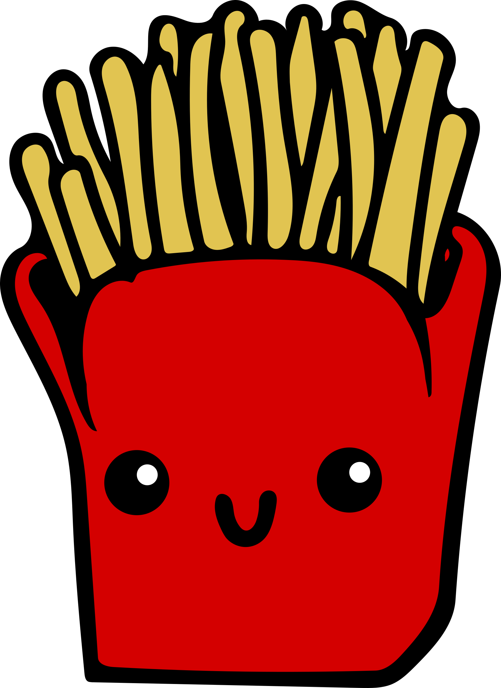 Clipart - Kawaii Fries - Colour