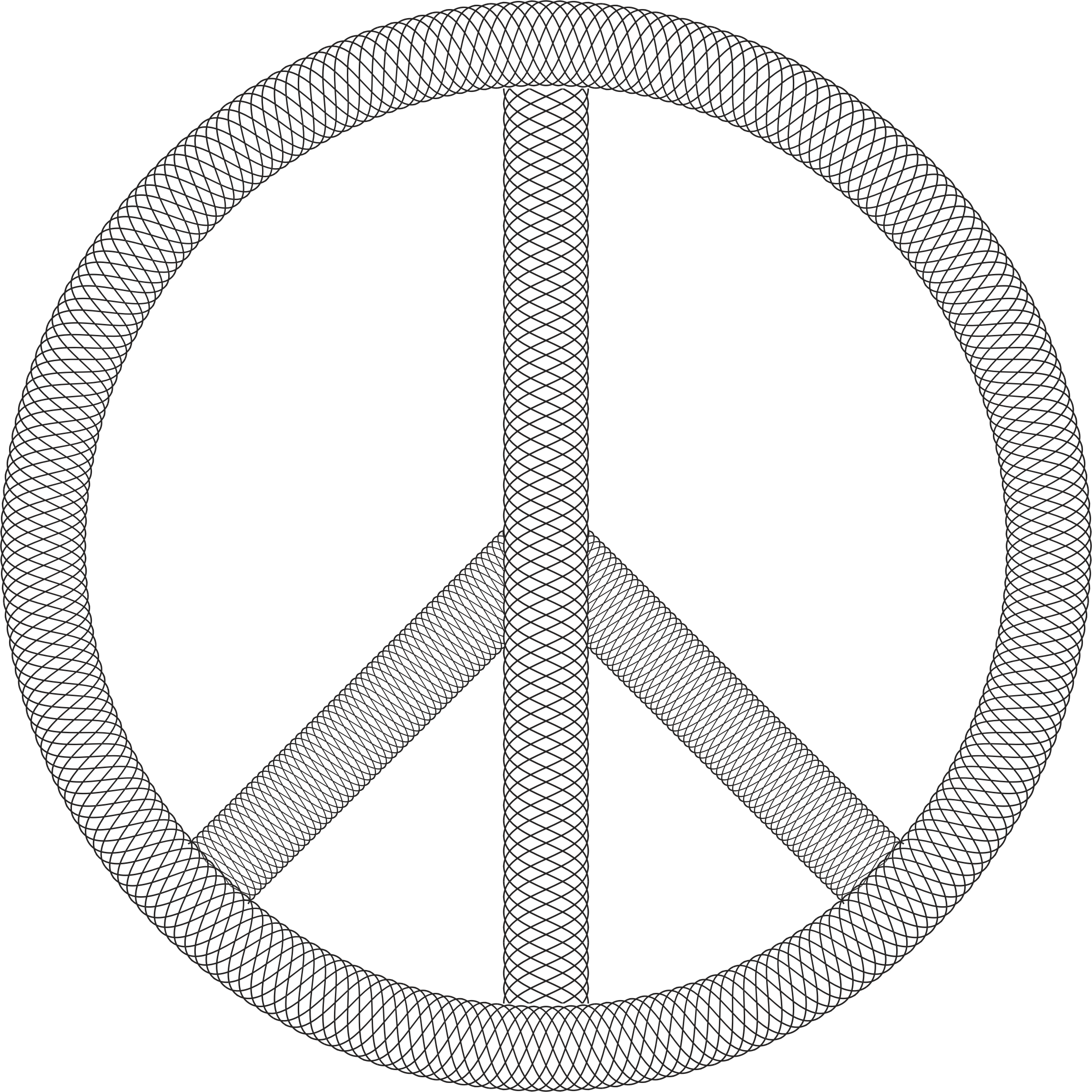 Guilloche Peace Sign by GDJ
