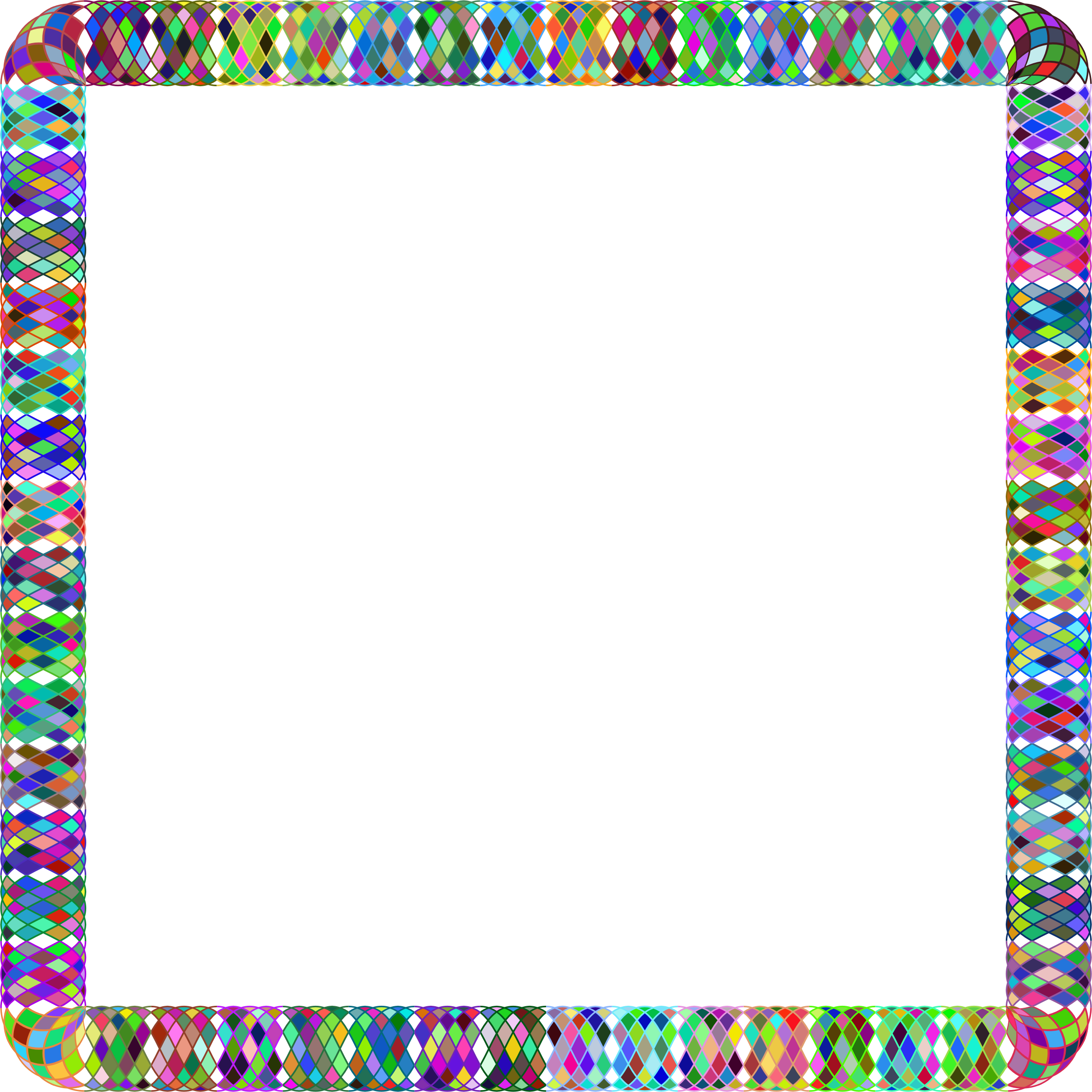 Prismatic Guilloche Frame 2 by GDJ