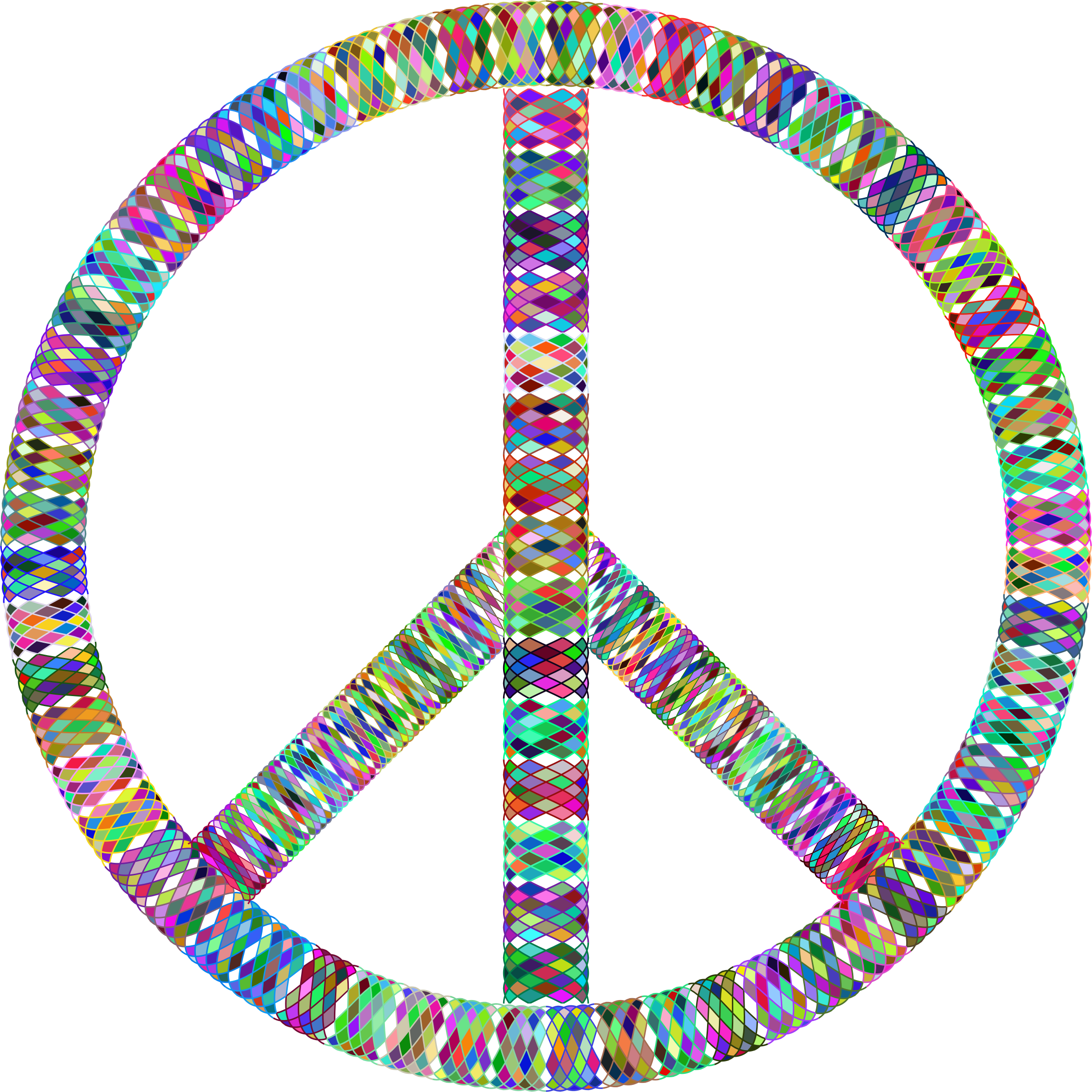 Prismatic Guilloche Peace Sign by GDJ