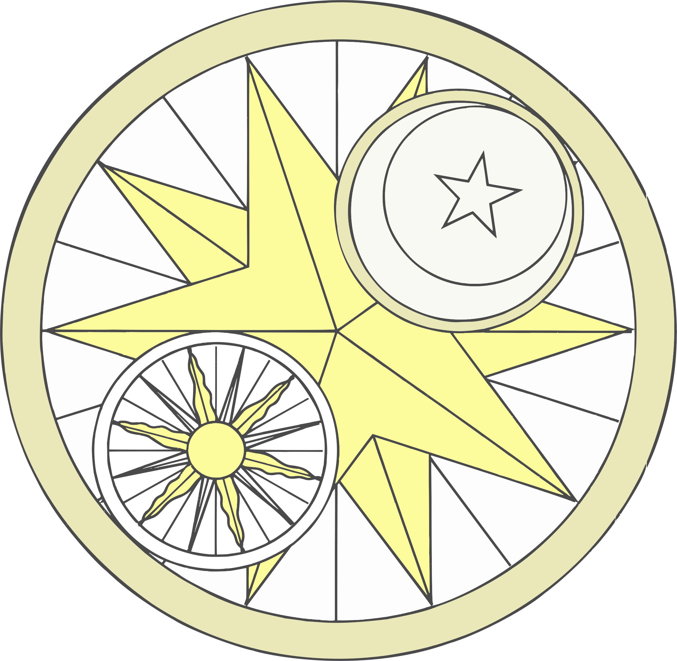 Sun And Moon Design by GDJ
