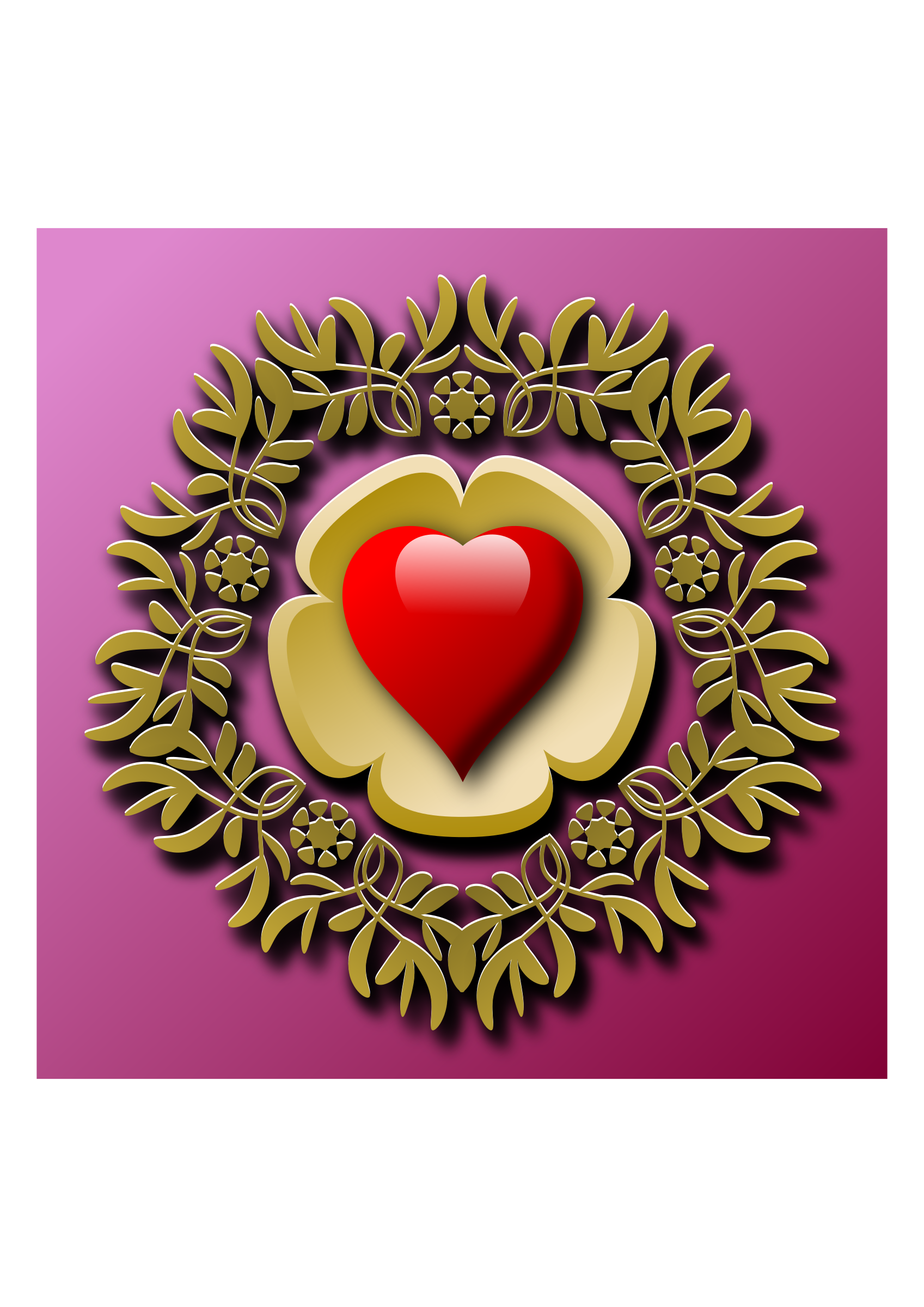 Decorative element with heart by Almeidah