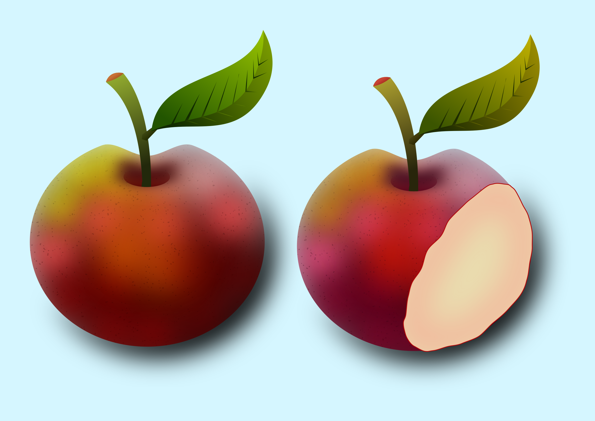 Two apples by Almeidah