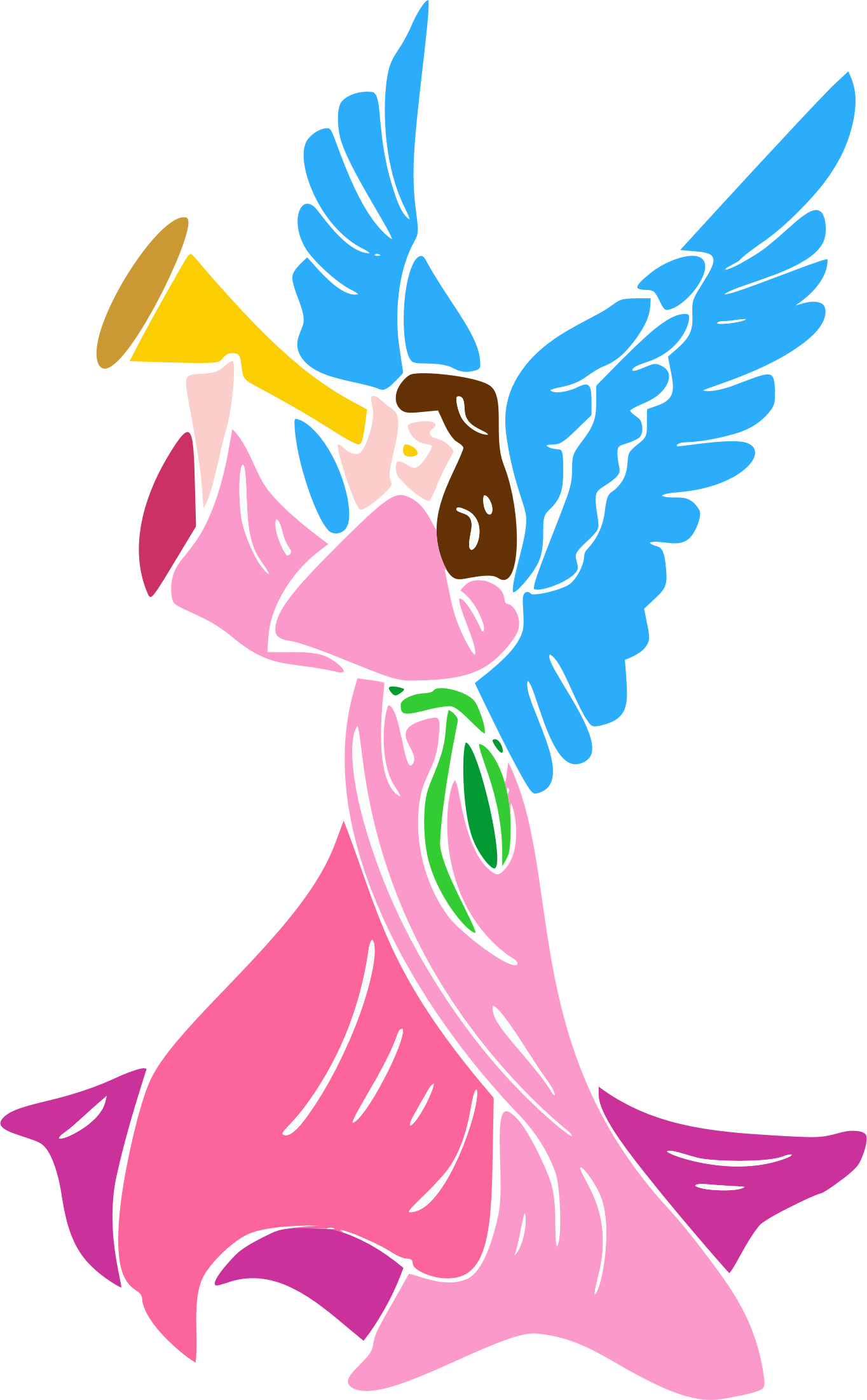 Angel Blowing Horn by GDJ