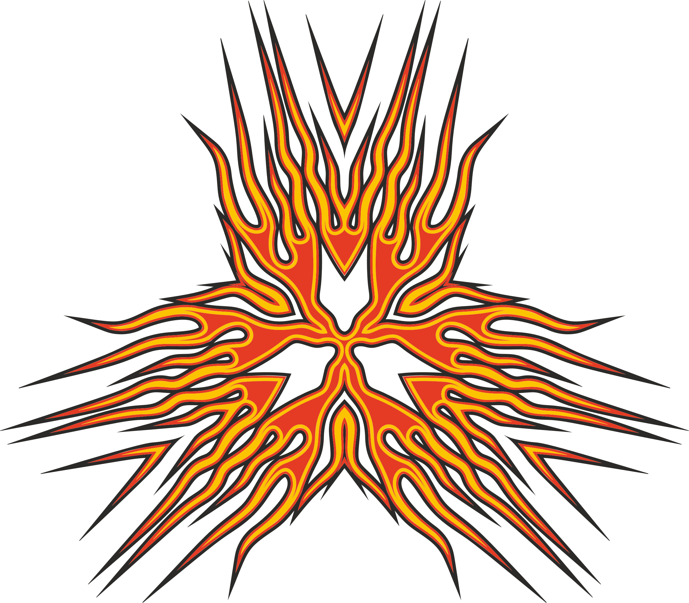 Abstract Flames Design 2 by GDJ