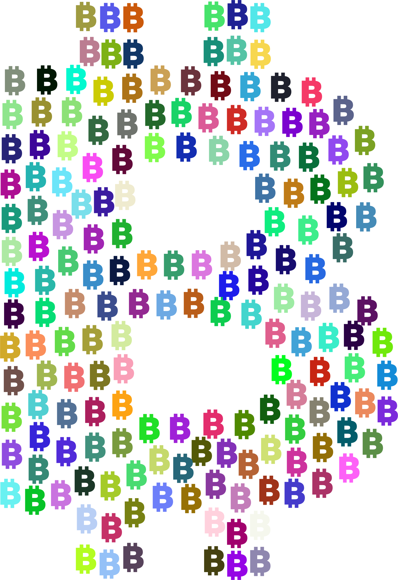 Prismatic Bitcoin Logo Fractal by GDJ