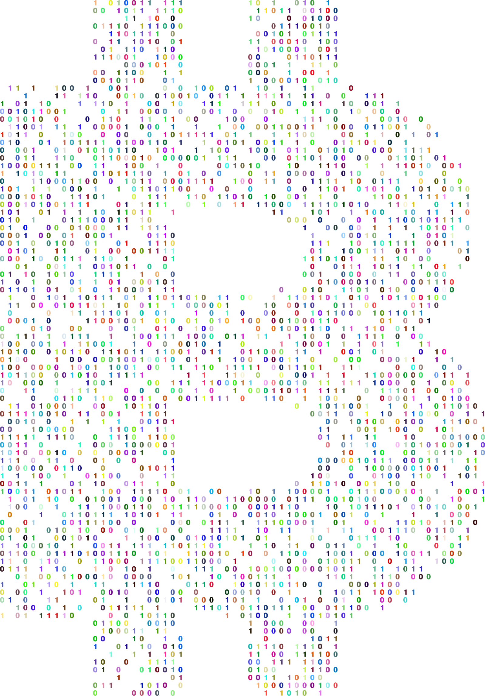 Prismatic Bitcoin Logo Binary by GDJ