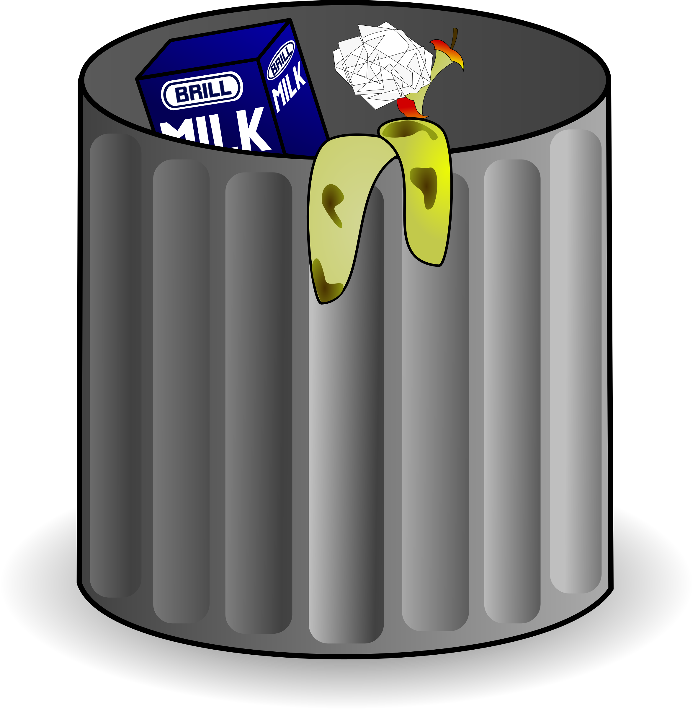 clipart trash can - Hostted