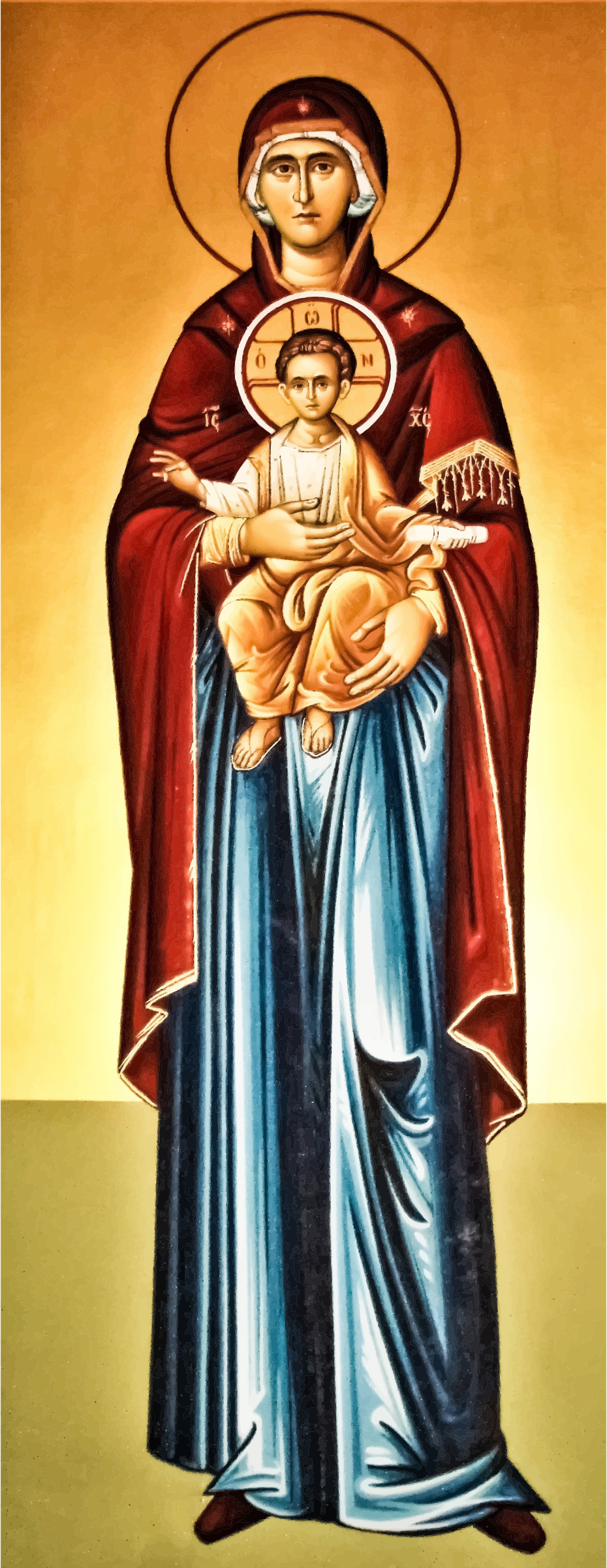 Clipart - Virgin Mary And Jesus Painting