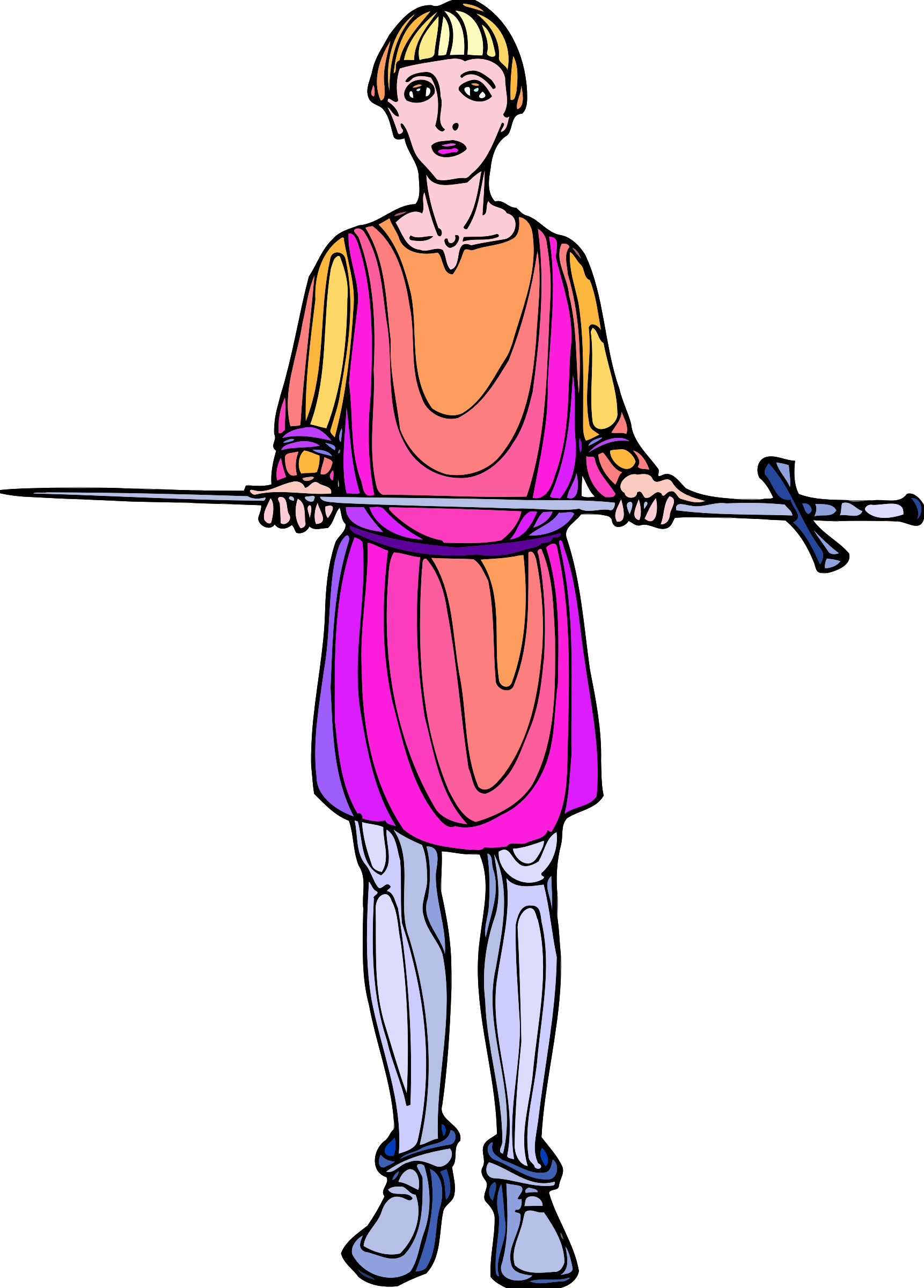 Shakespeare characters - sword bearer (colour) by Firkin