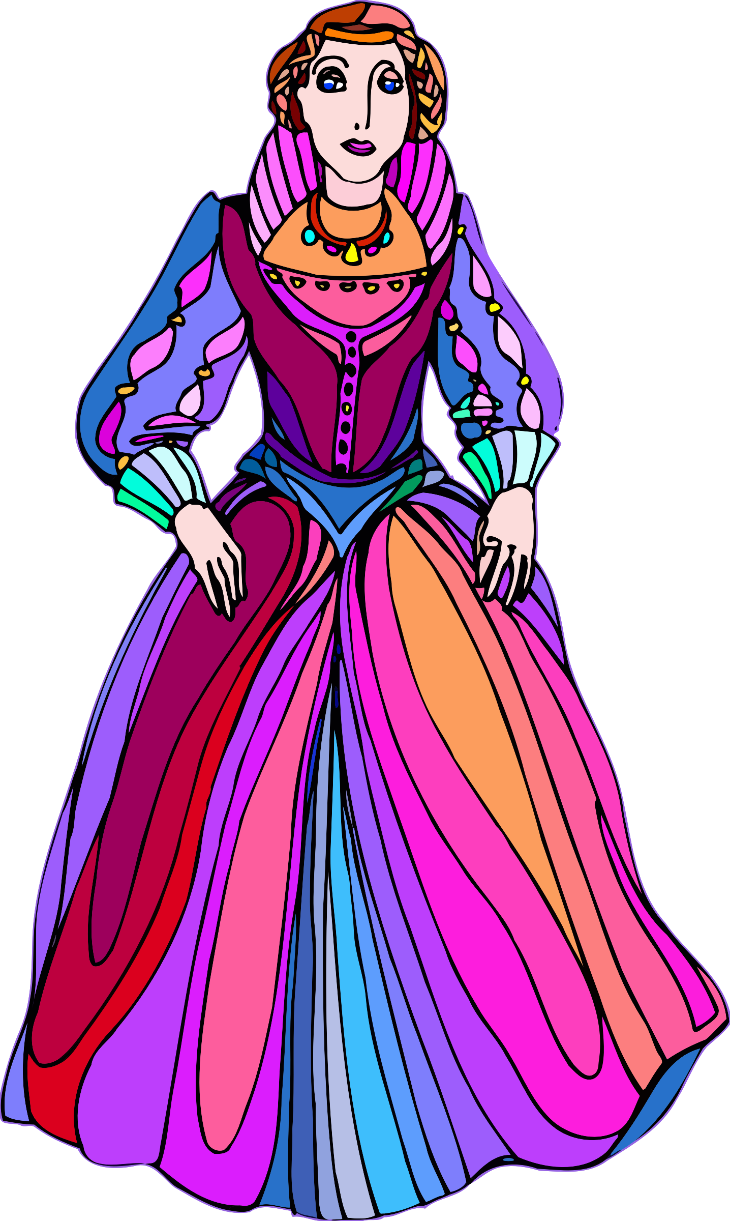 Shakespeare characters - princess (colour) by Firkin