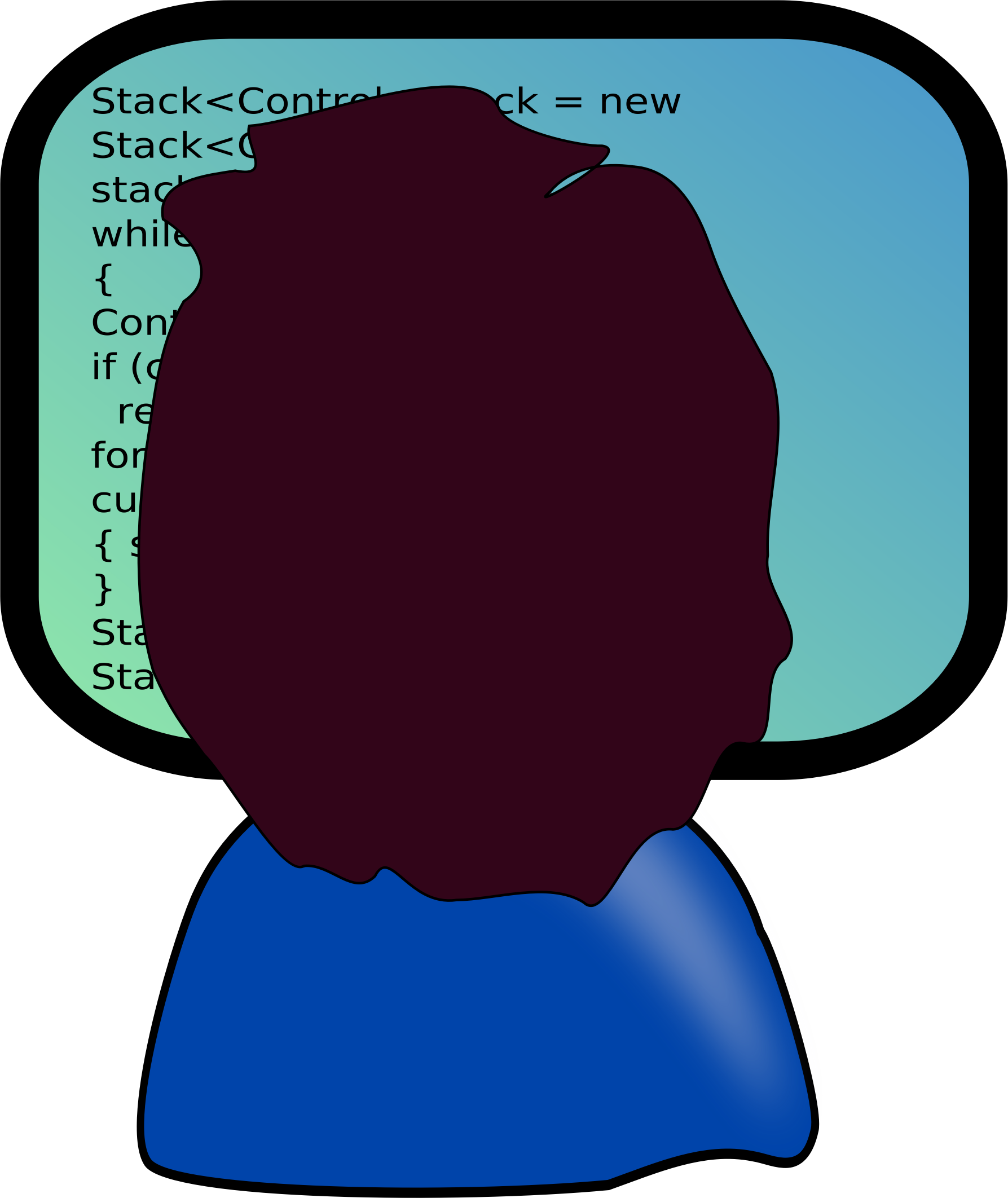 Java programmer with medium-length hair by espertus