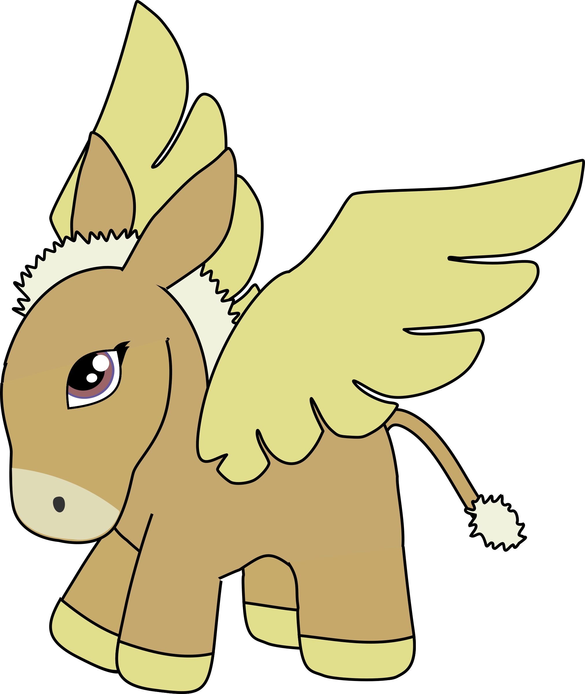 Brown and gold donkey pegasus by anarres