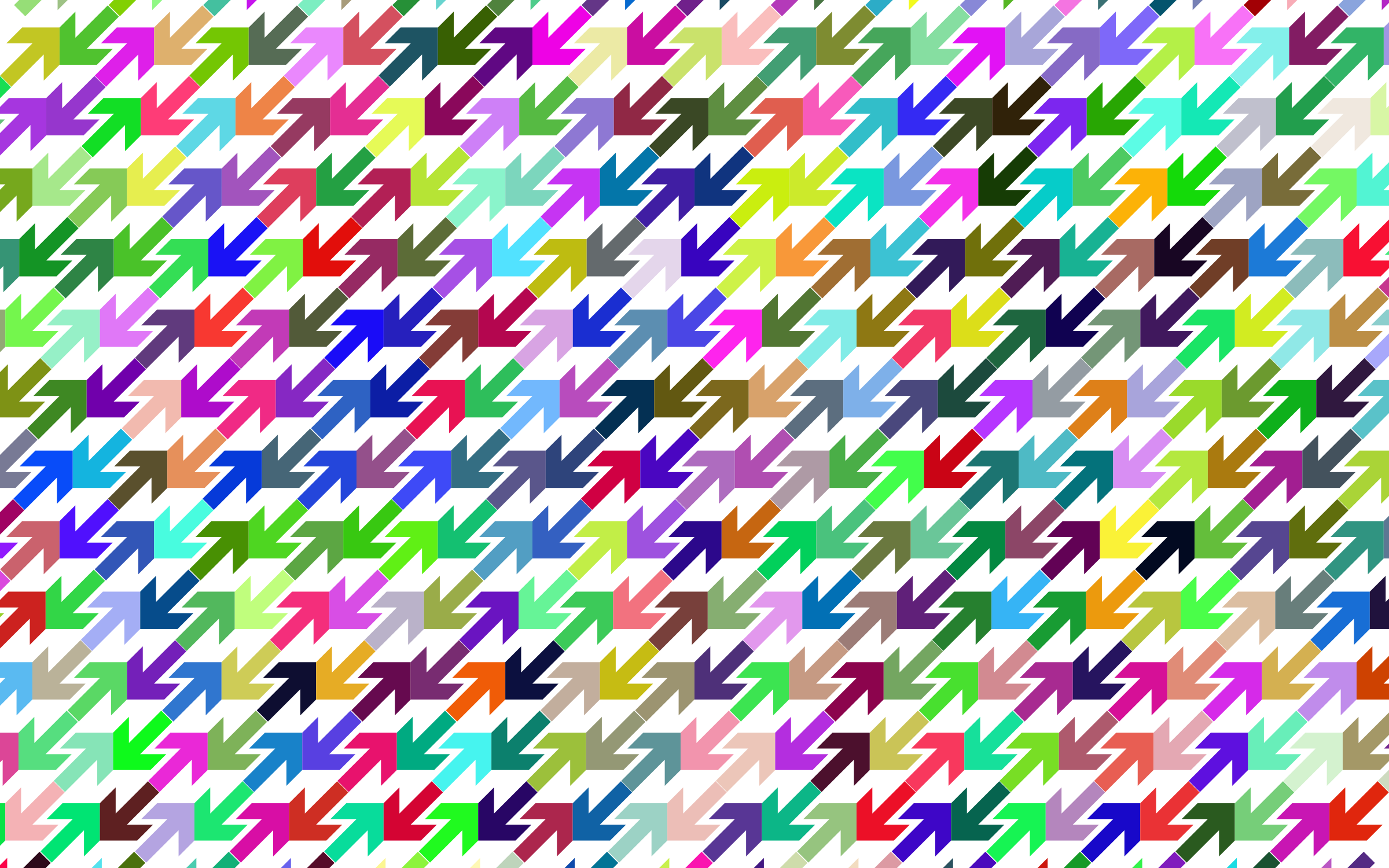Prismatic Abstract Arrows Pattern by GDJ