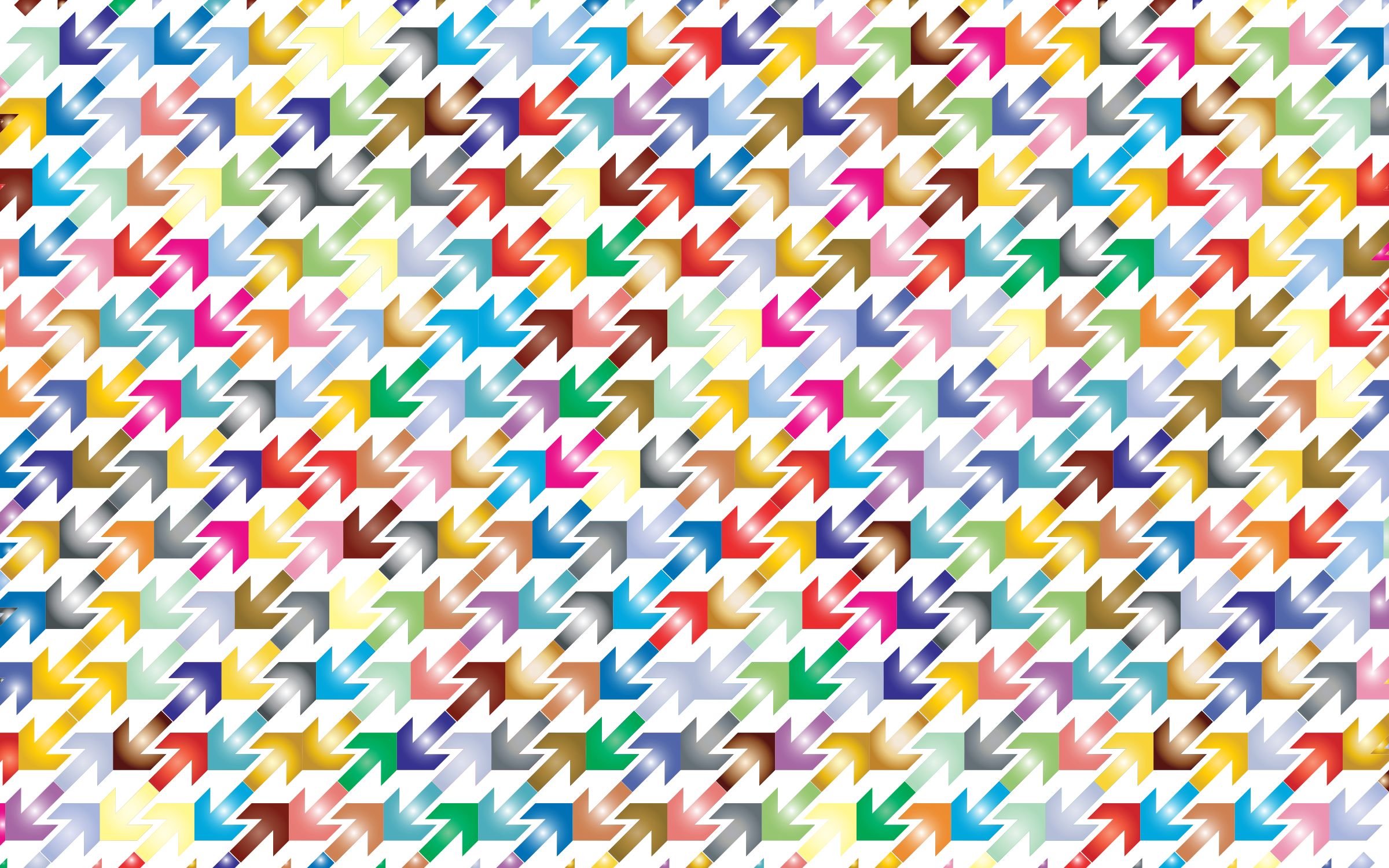 Prismatic Abstract Arrows Pattern 2 by GDJ