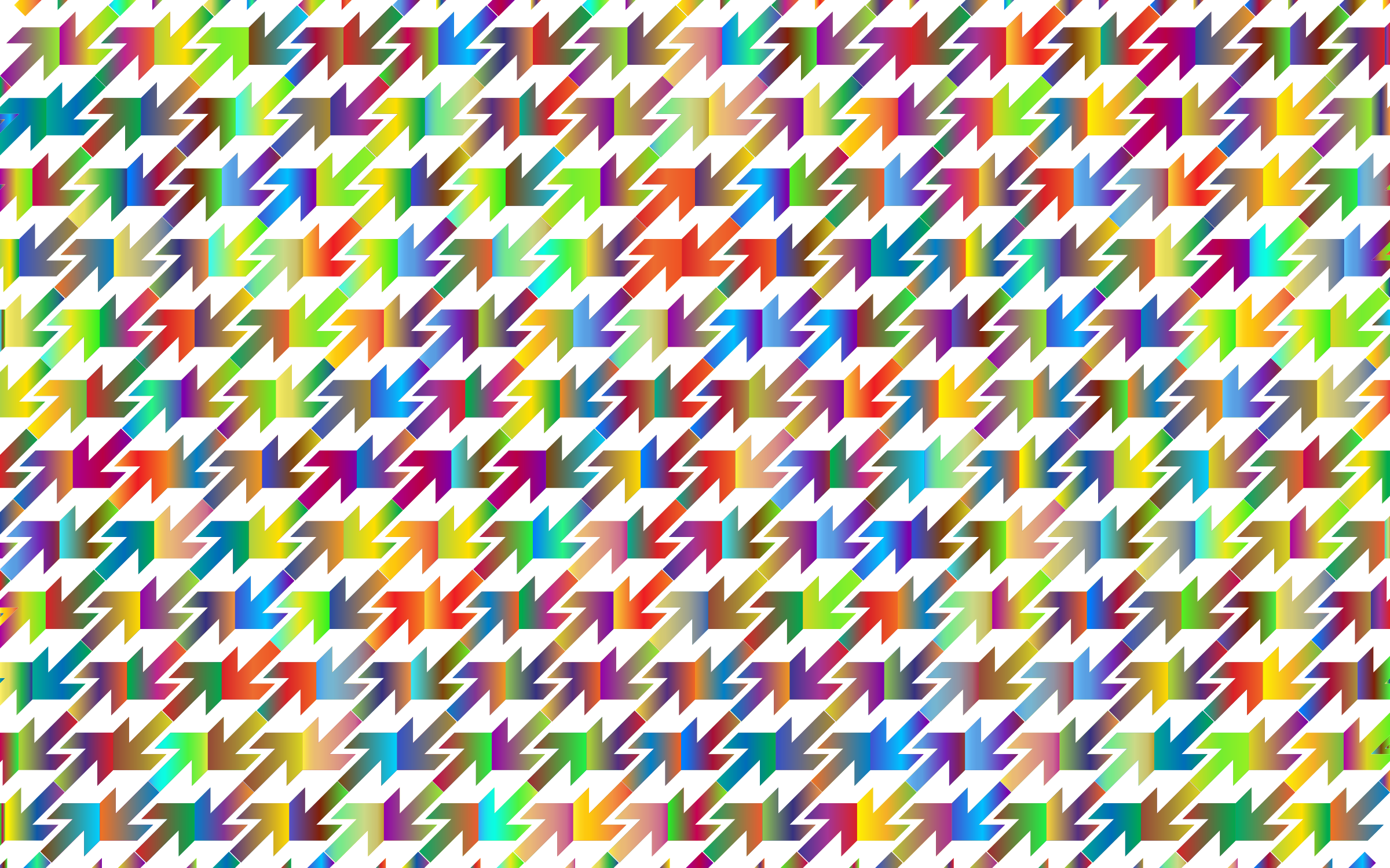 Prismatic Abstract Arrows Pattern 3 by GDJ