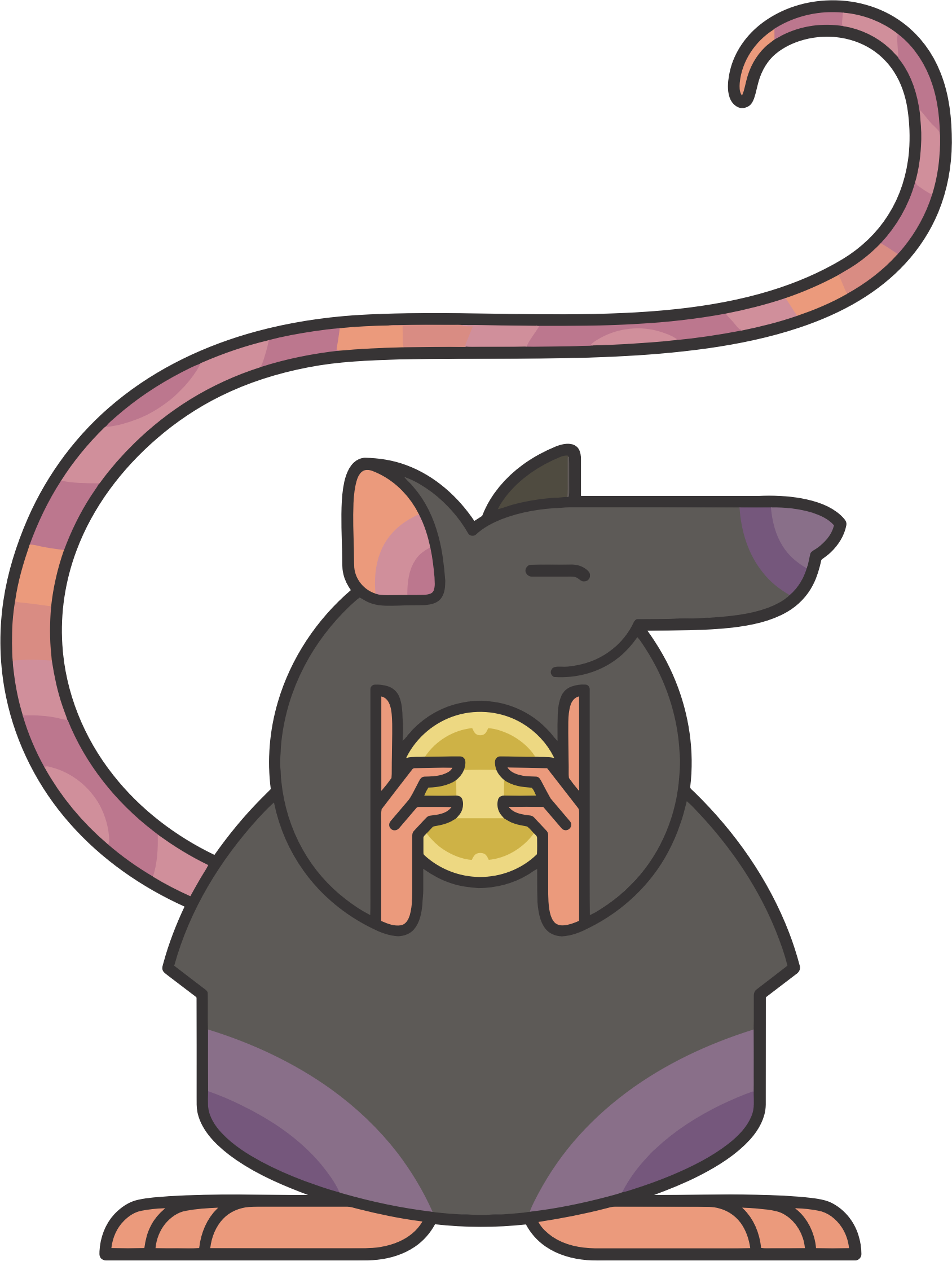 Stylized Cartoon Rat by GDJ