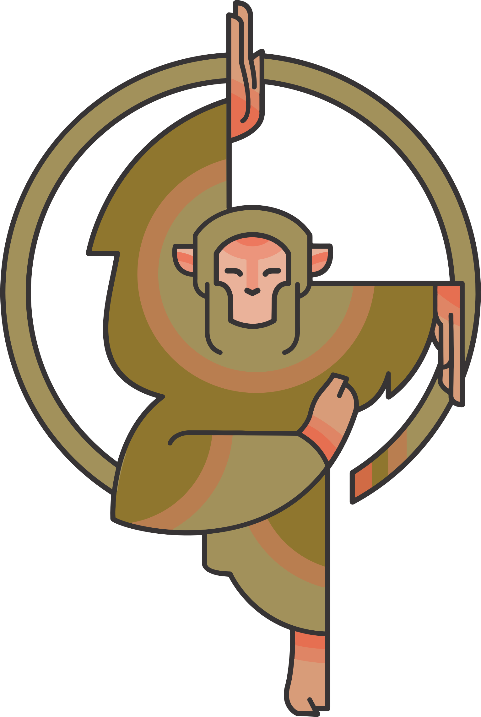 Stylized Cartoon Monkey by GDJ