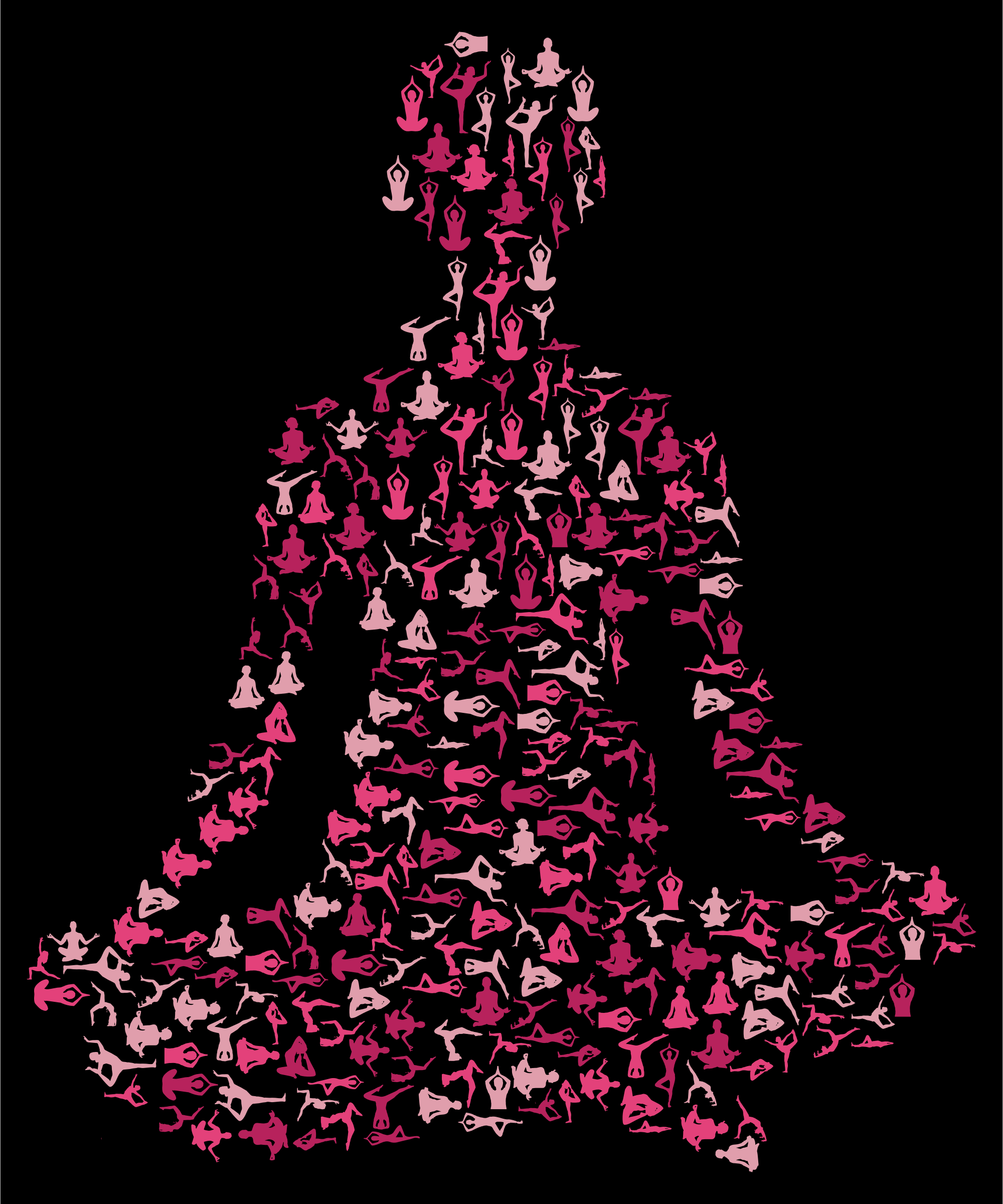 Female Yoga Pose Silhouette Fractal Variation 2 by GDJ