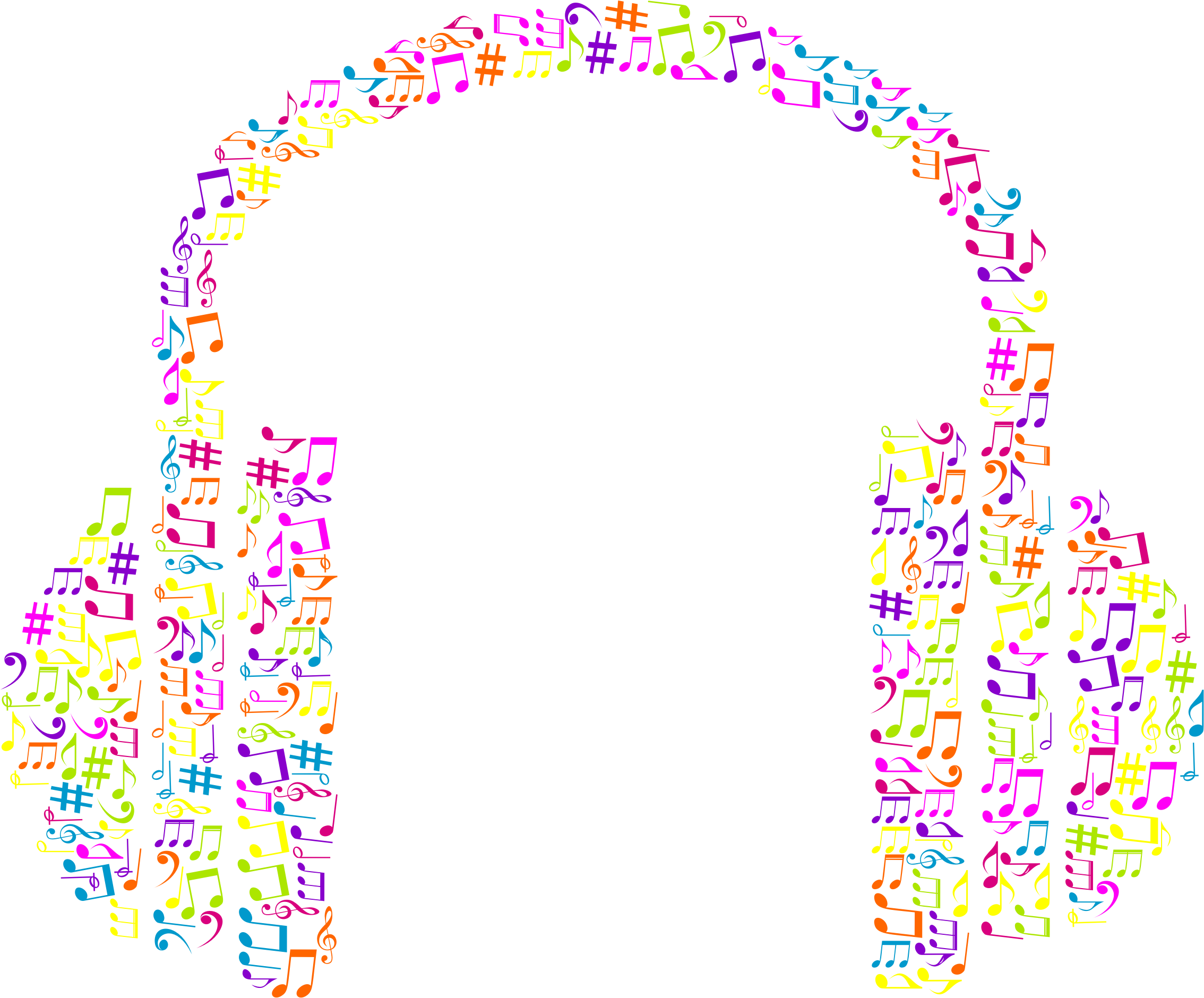 Musical Notes Headphone No Background by GDJ