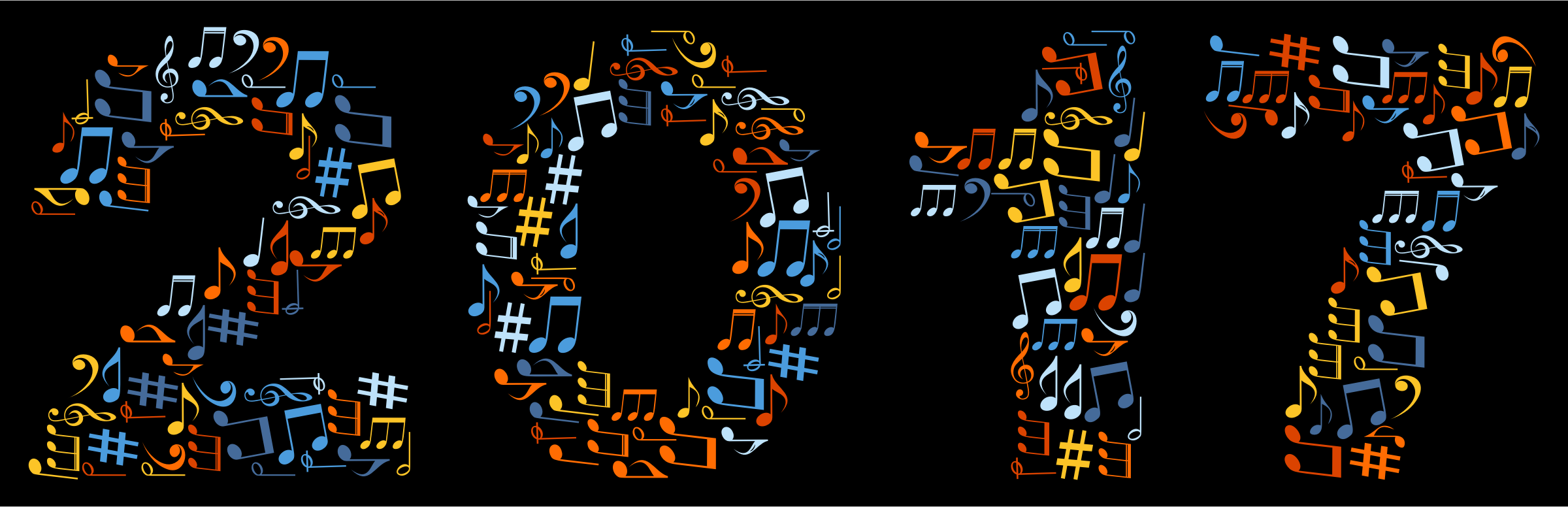 2017 Musical Notes Typography by GDJ