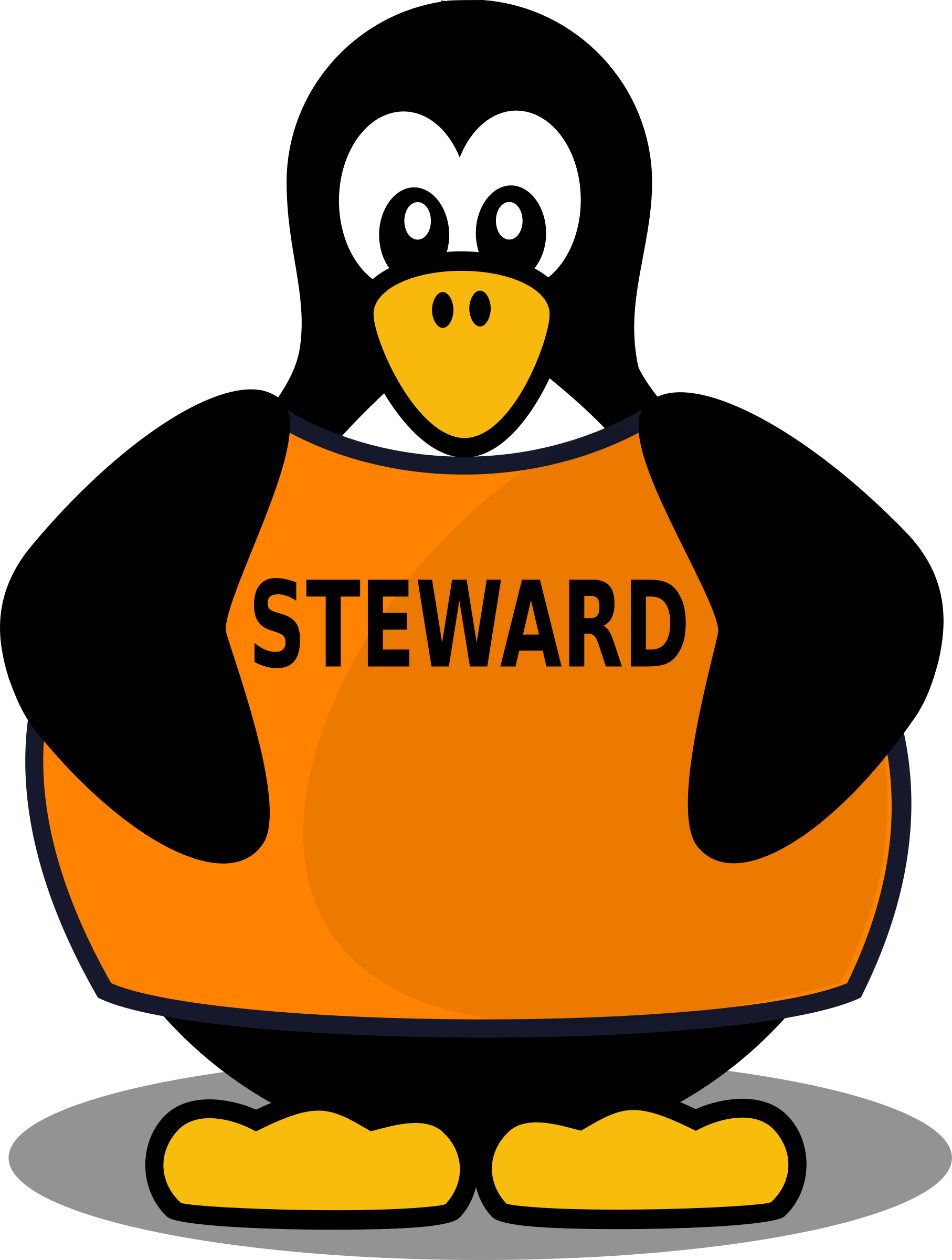 Steward penguin by Firkin