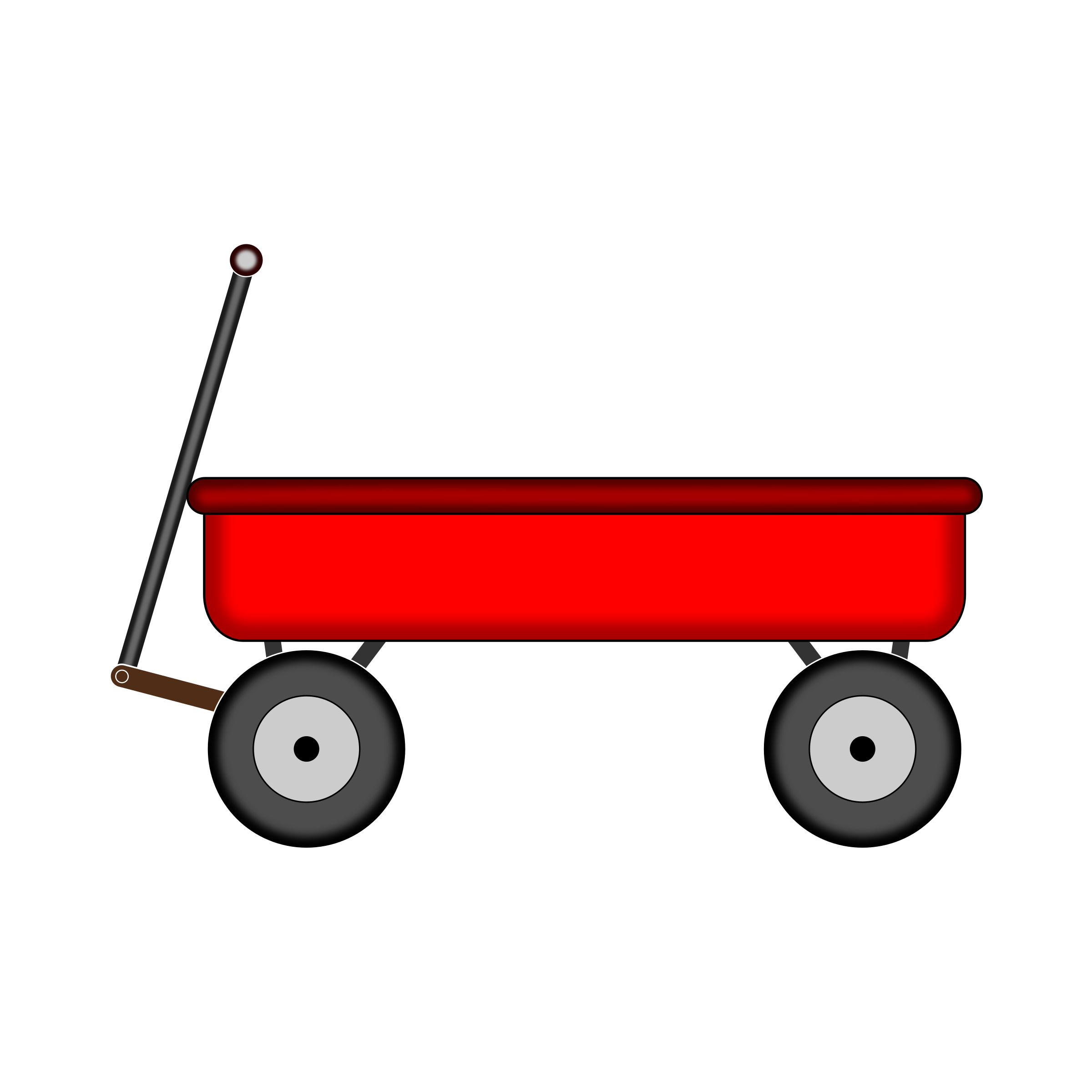 Red Wagon by NiftyGaloot