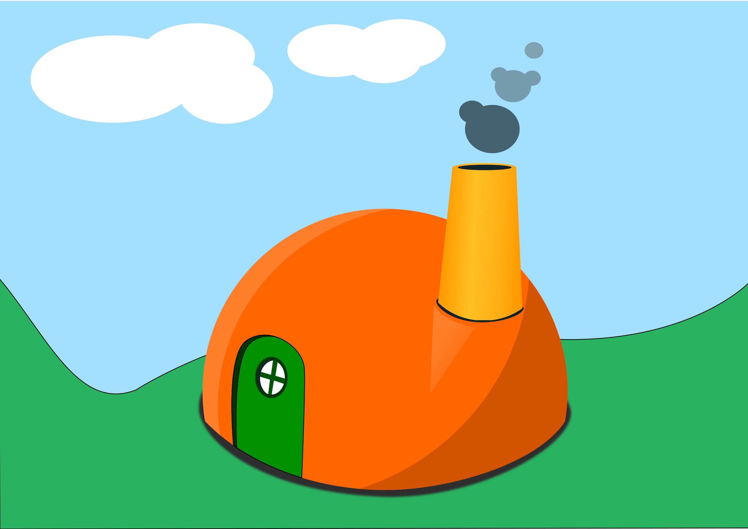 Colorful Simple Cartoon Hut Home by monsterbraingames