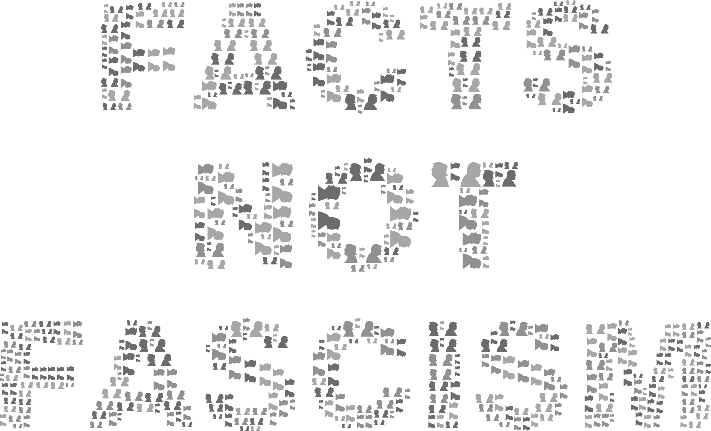 Facts Not Fascism Grayscale by GDJ