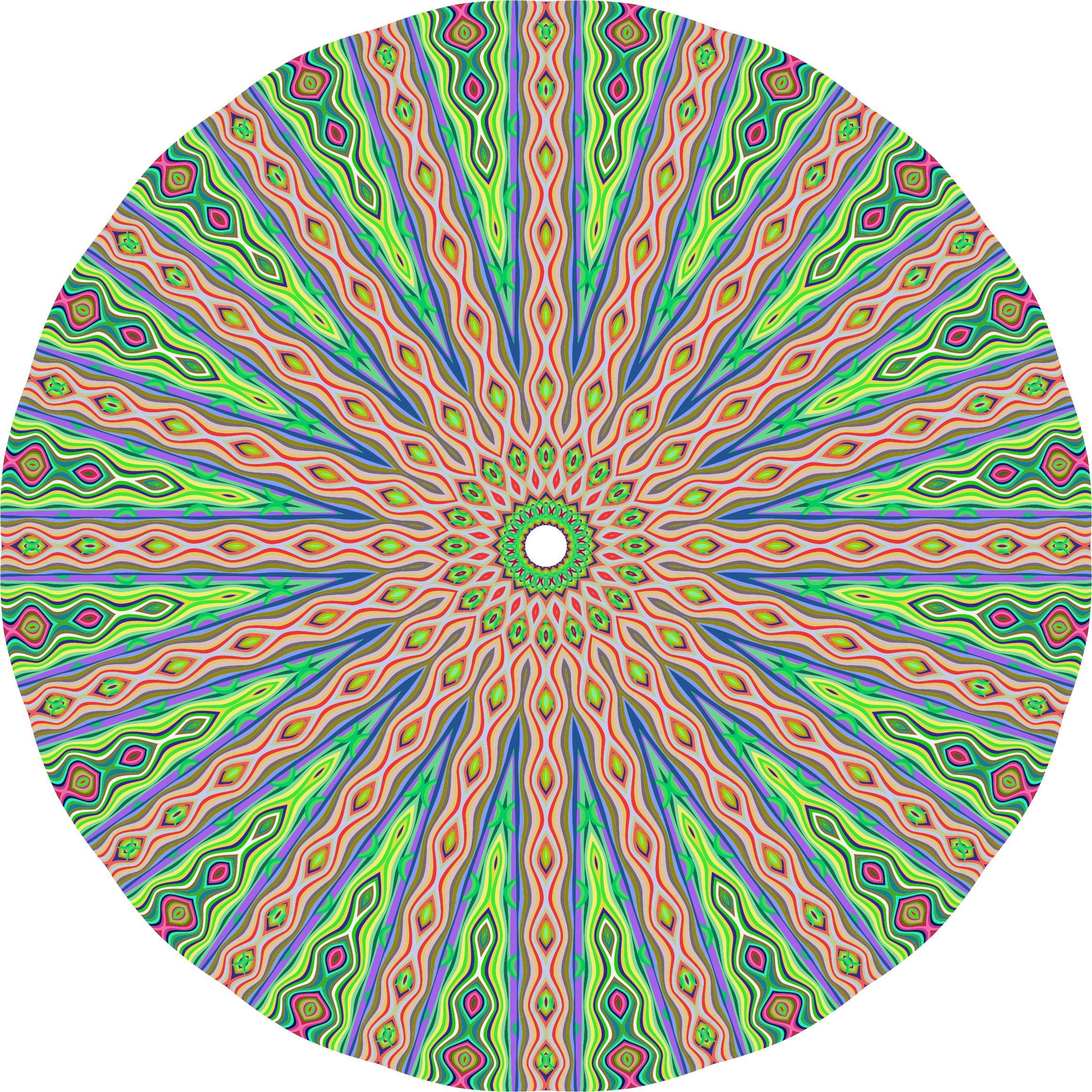 Abstract Pastel Mandala 2 by GDJ
