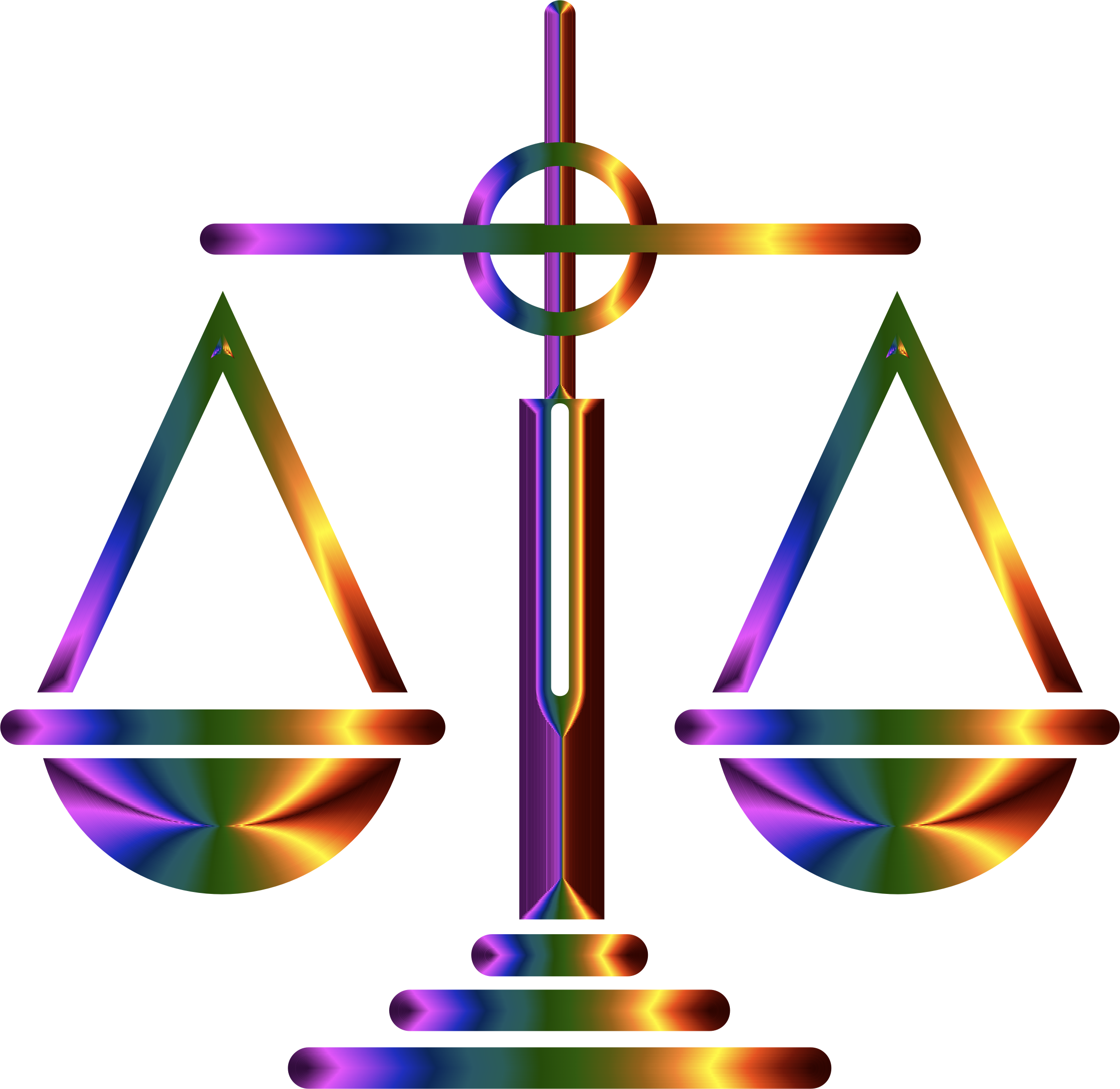 Chromatic Scales Of Justice Icon by GDJ