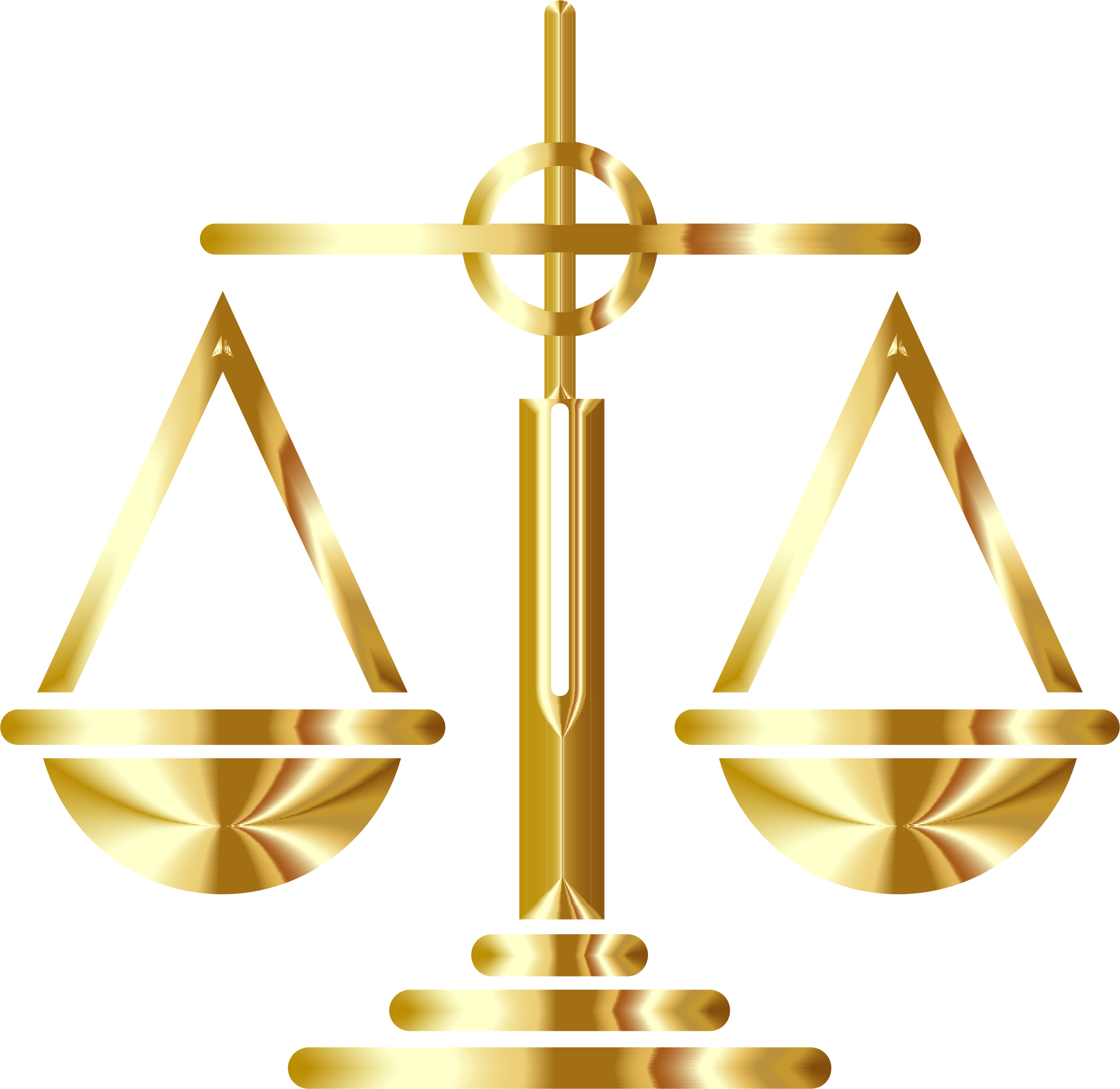 Gold Scales Of Justice Icon by GDJ