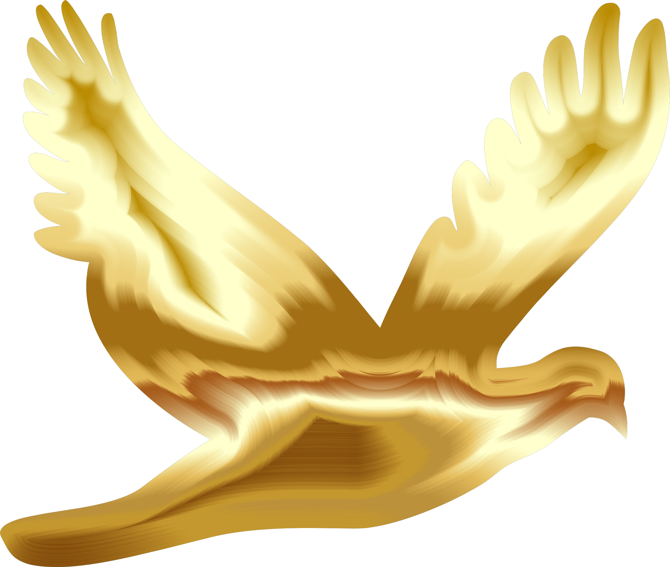 Gold Flying Dove Silhouette No Background by GDJ