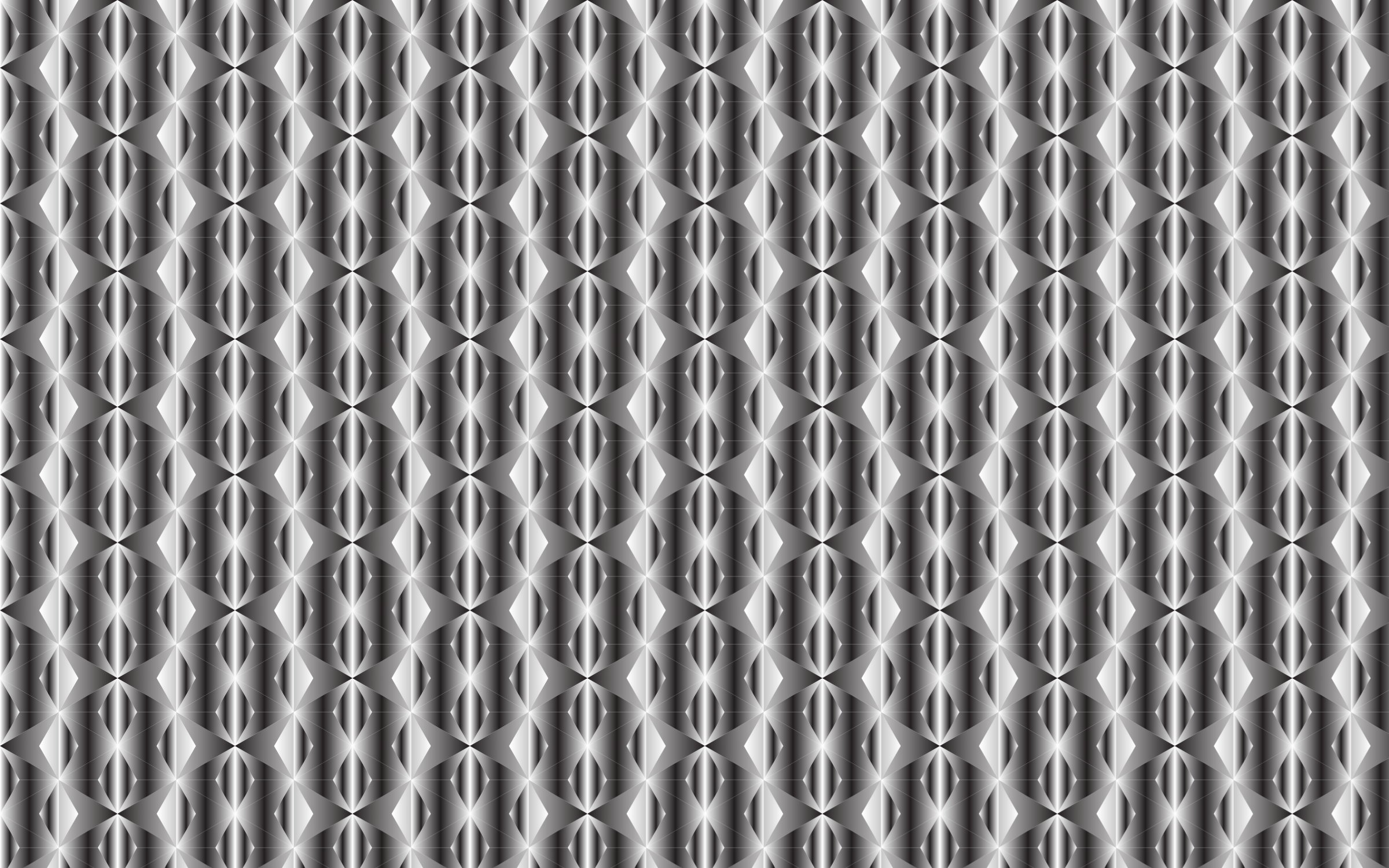 Seamless Hexagonal Diamonds Grayscale Pattern by GDJ