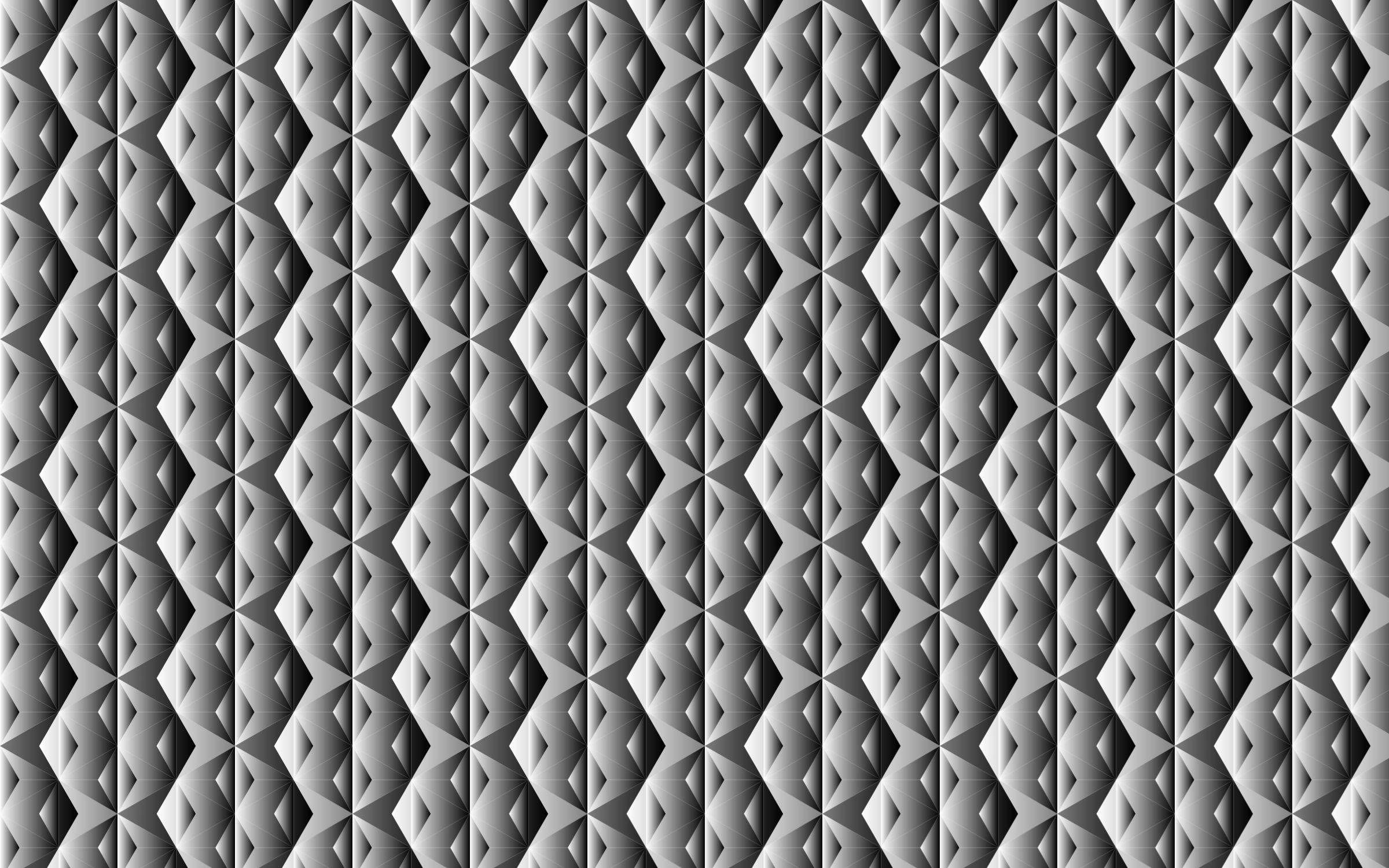 Seamless Hexagonal Diamonds Grayscale Pattern 2 by GDJ