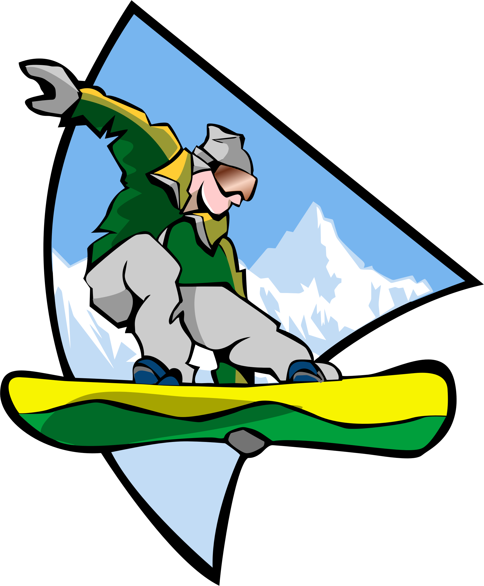 Snowboarding Man 2 by GDJ