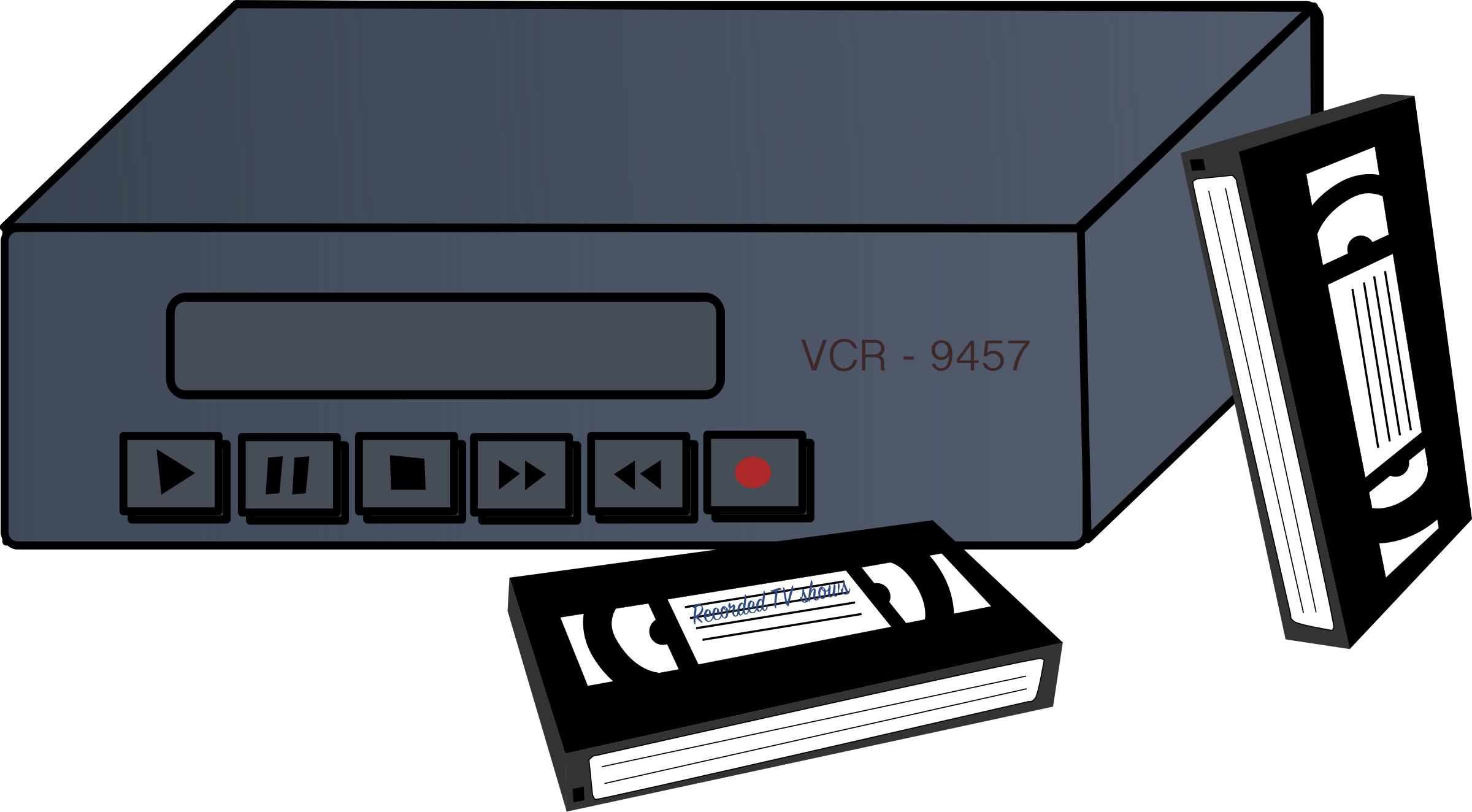 VCR and Tapes by j4p4n